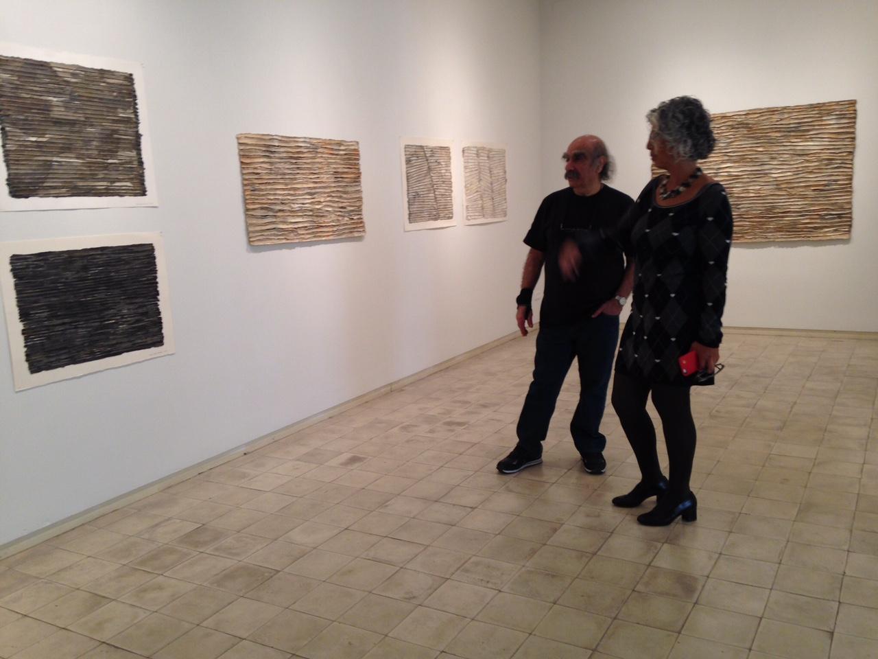 Zigi Ben-Haim with Curator Nira Itzhaki