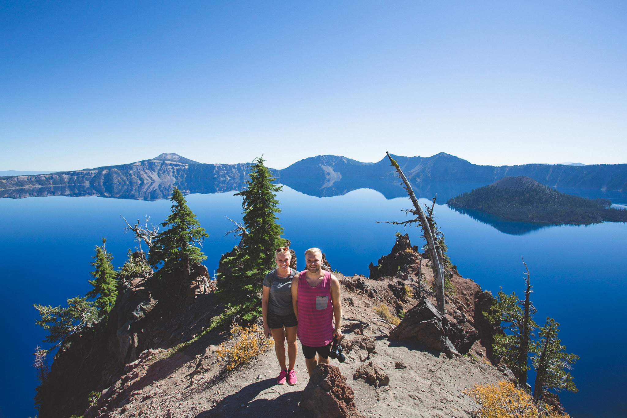 Crater lake couple