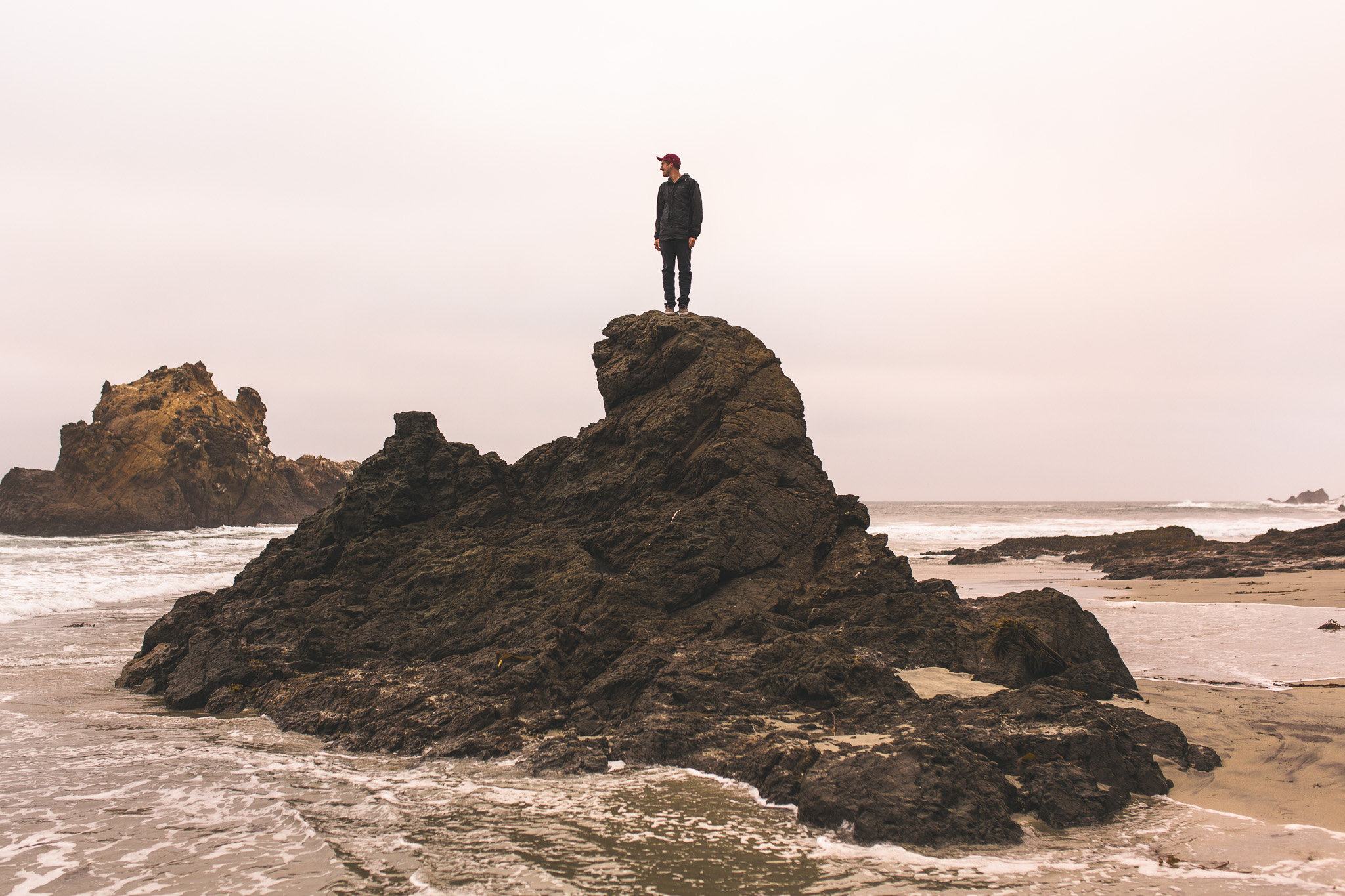 standing-on-rock-pfeiffer-beach