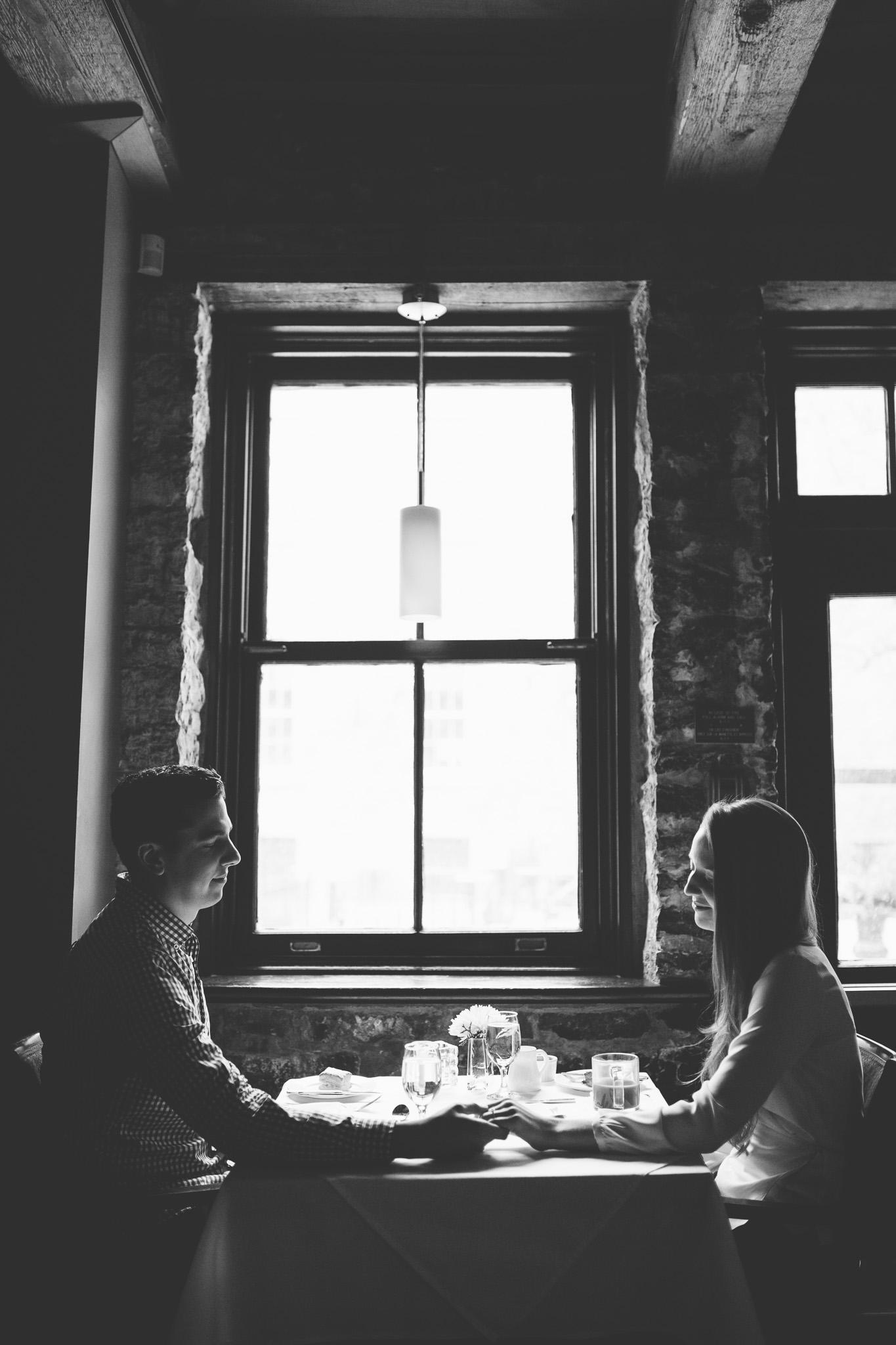 Recreating-courtyard-restaurant-date-engagement-photos