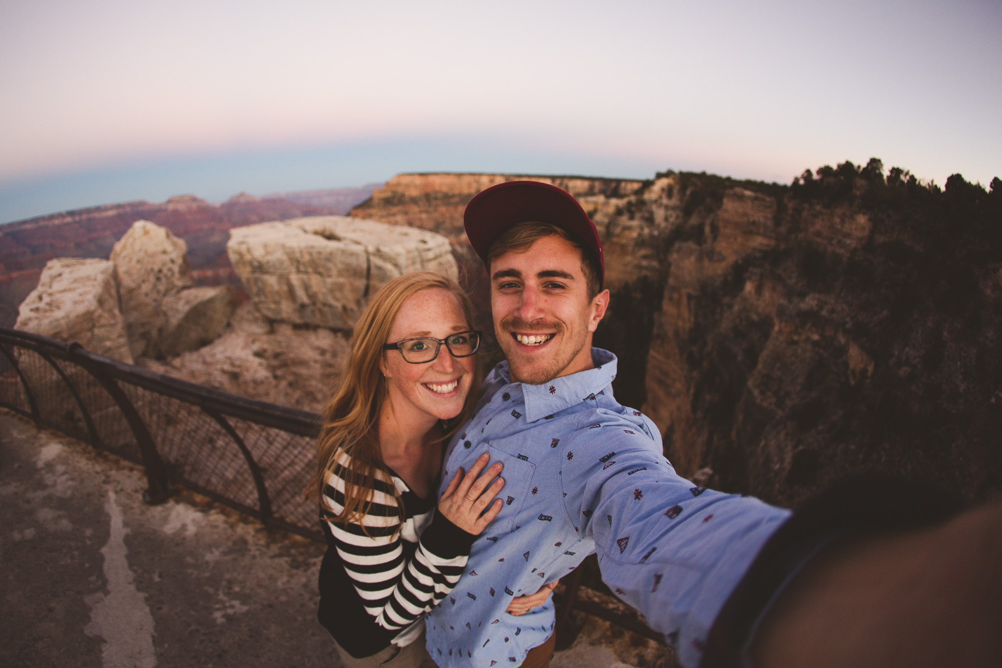 Grand-canyon-fisheye-selfie