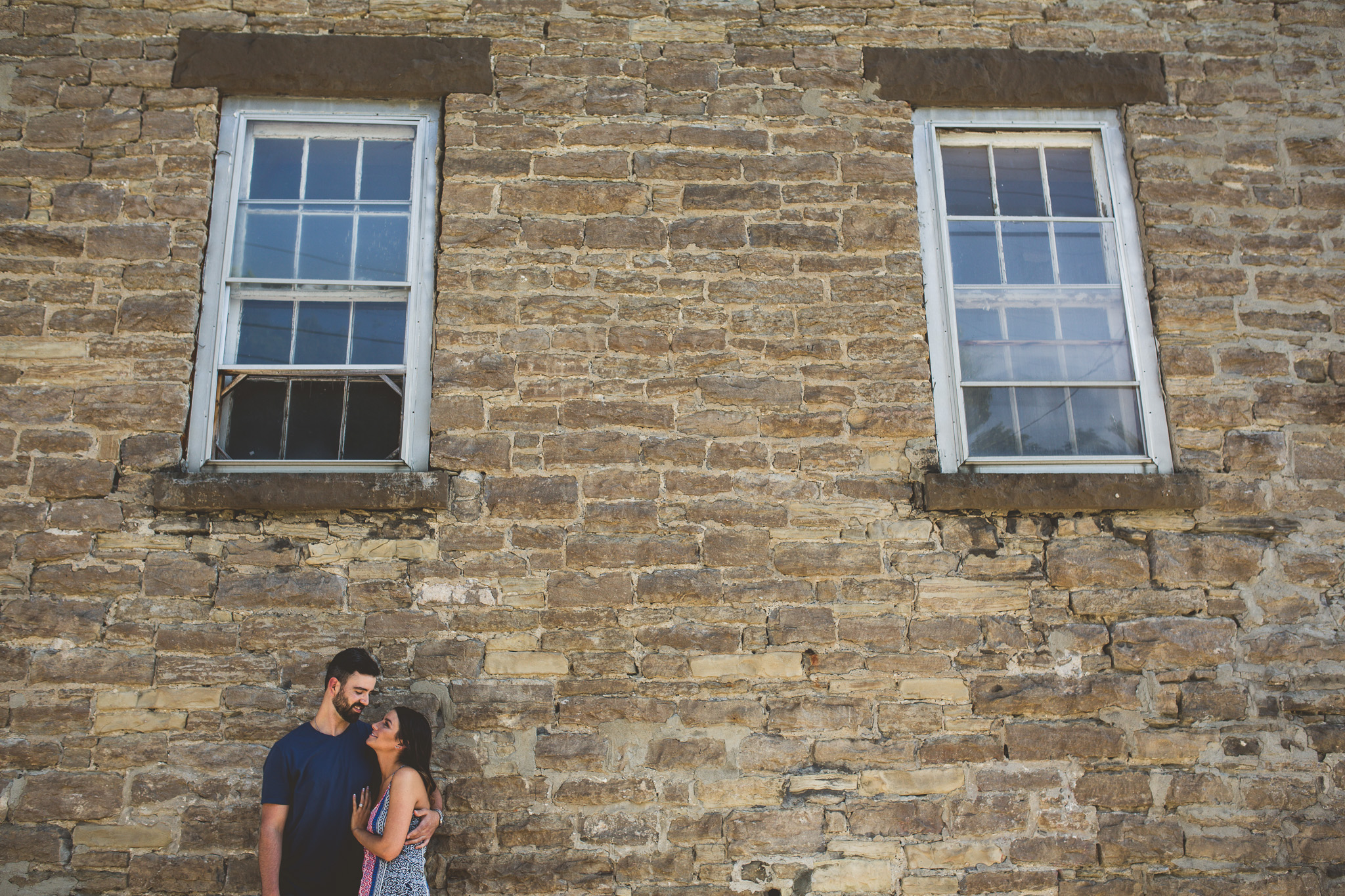 stone-wall-engagement-photos