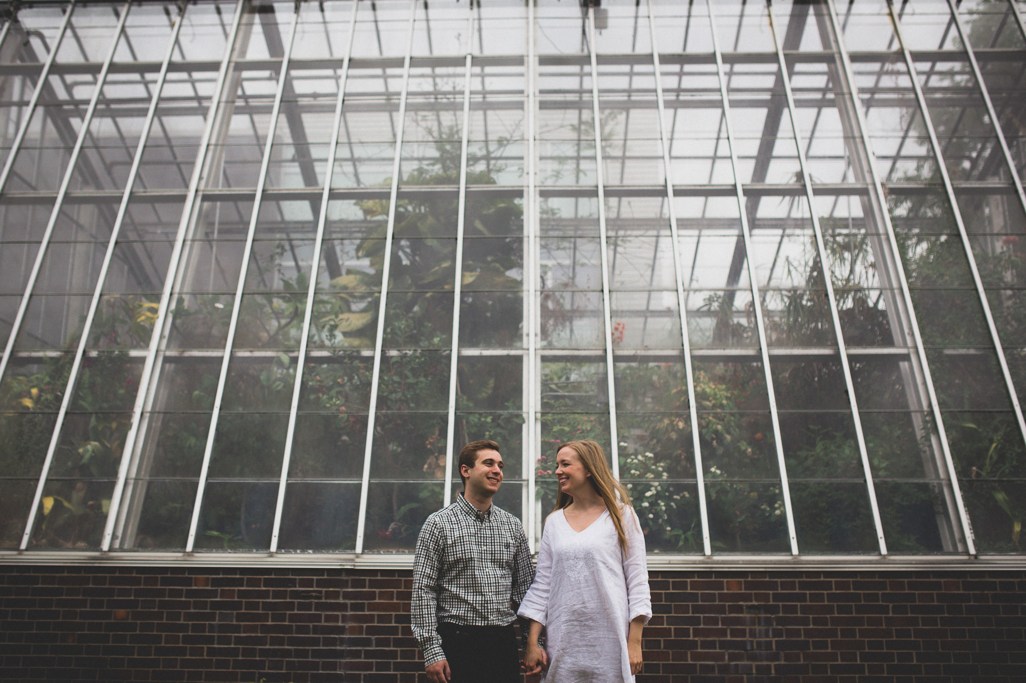 Greenhouse engagement photos Ottawa