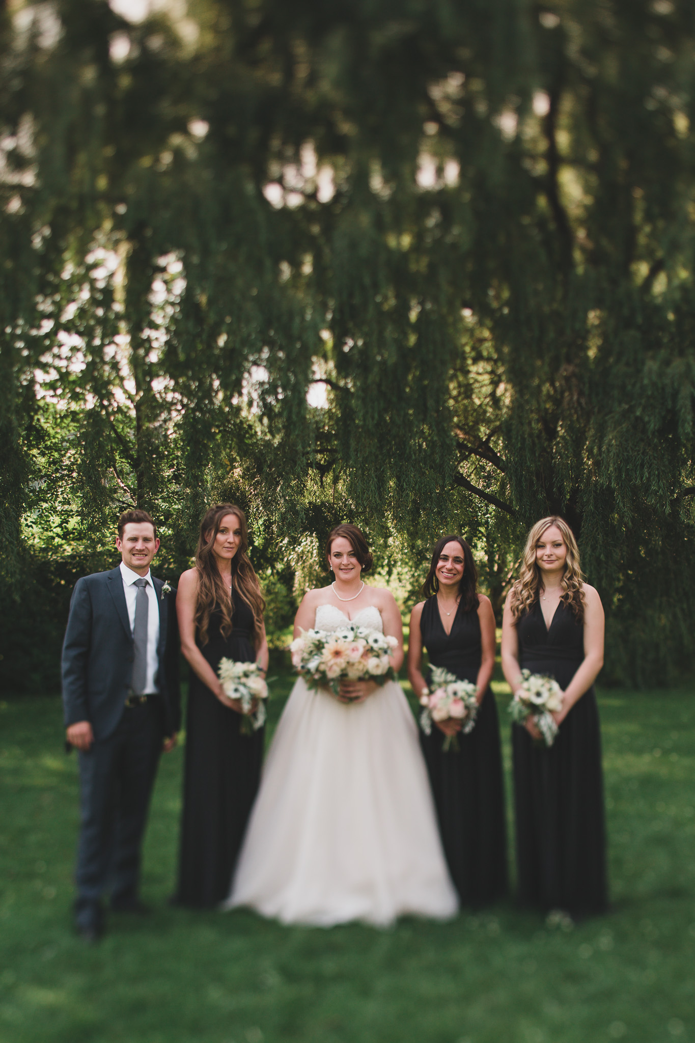Tilt Shift Bridal Party Photos