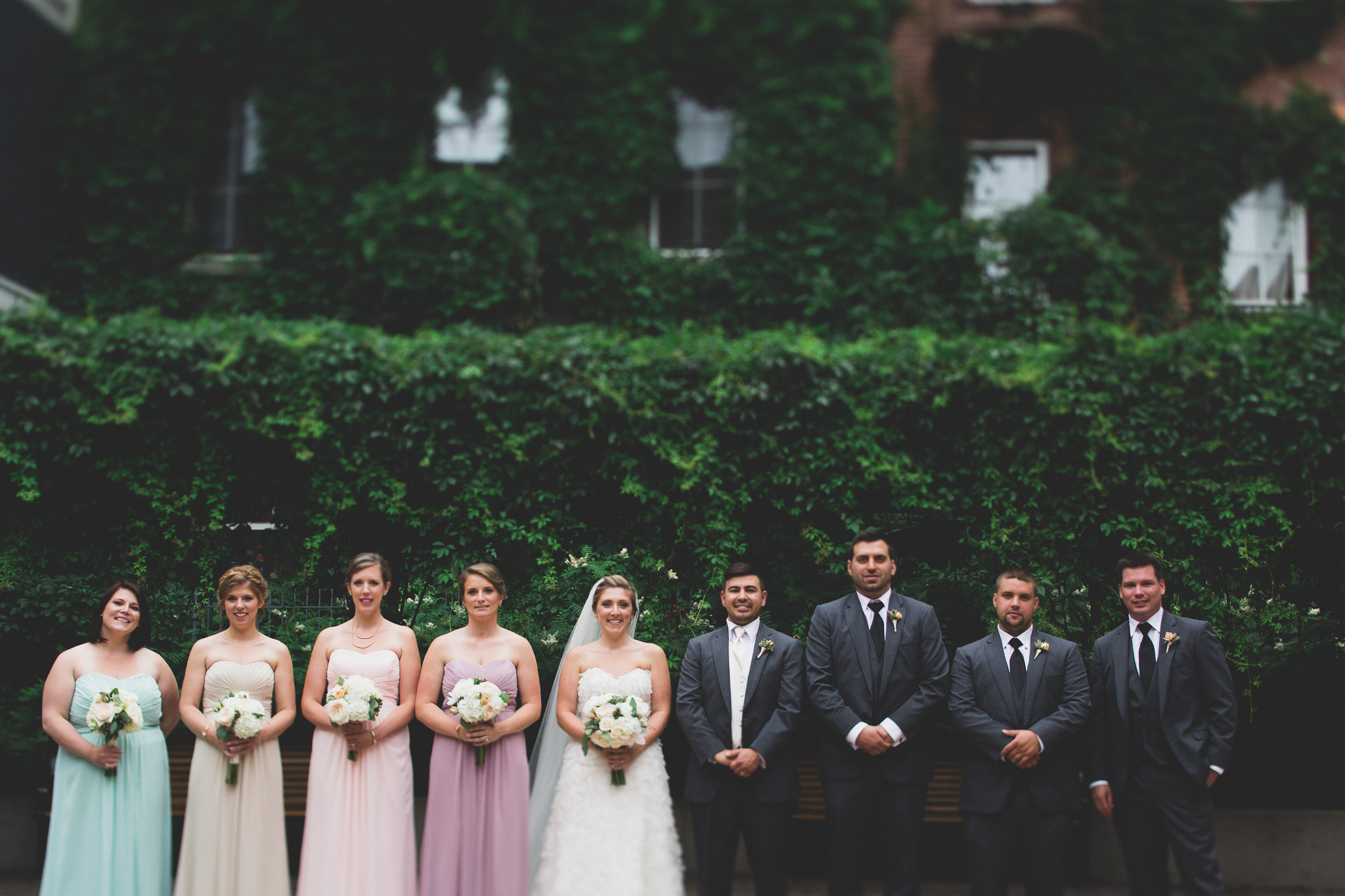 courtyard in ottawa wedding portrait