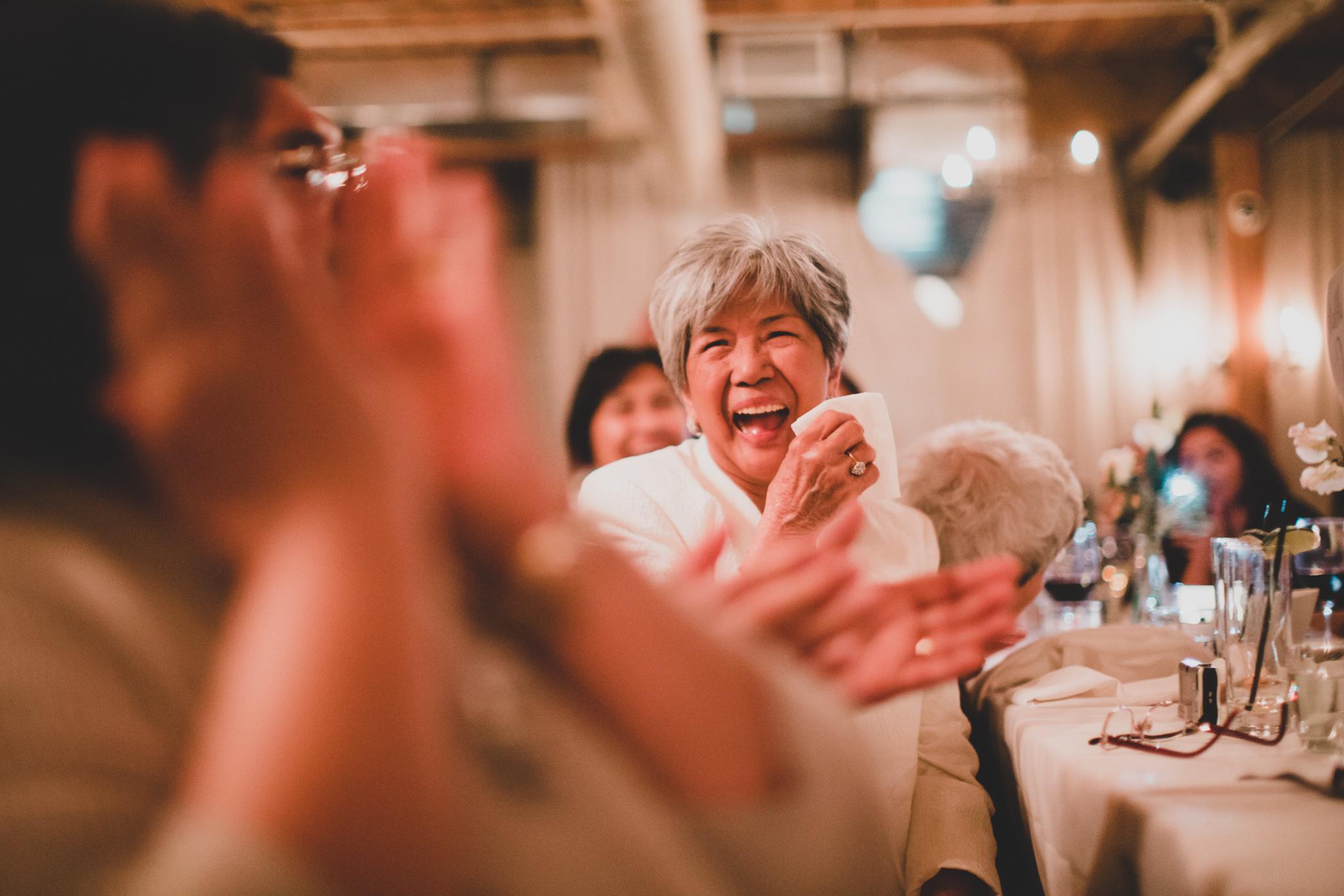 Grandmother Laughing Wedding Candids