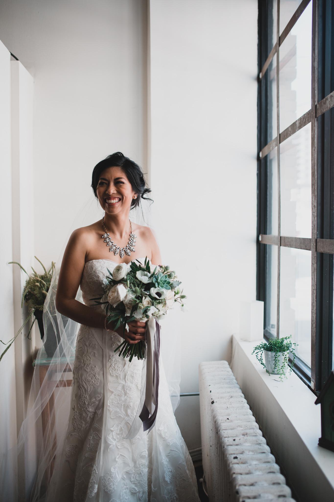 Bridal Portrait, Ontario Industrial Venue