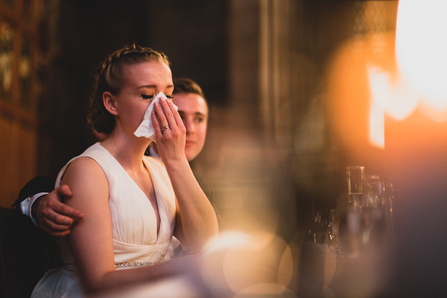 Intimate moments on Wedding Day