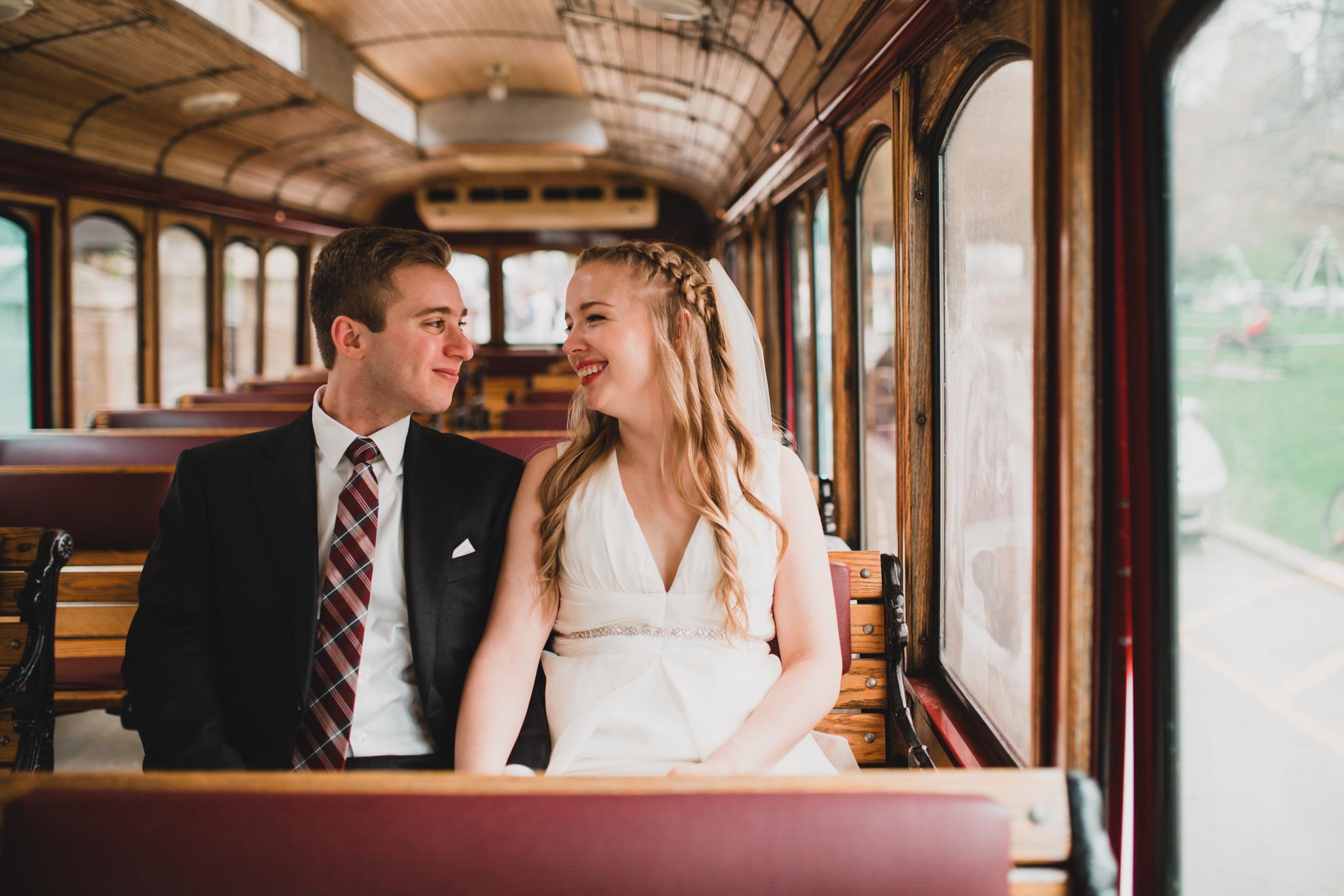 Vintage Trolley Rental, Toronto Wedding