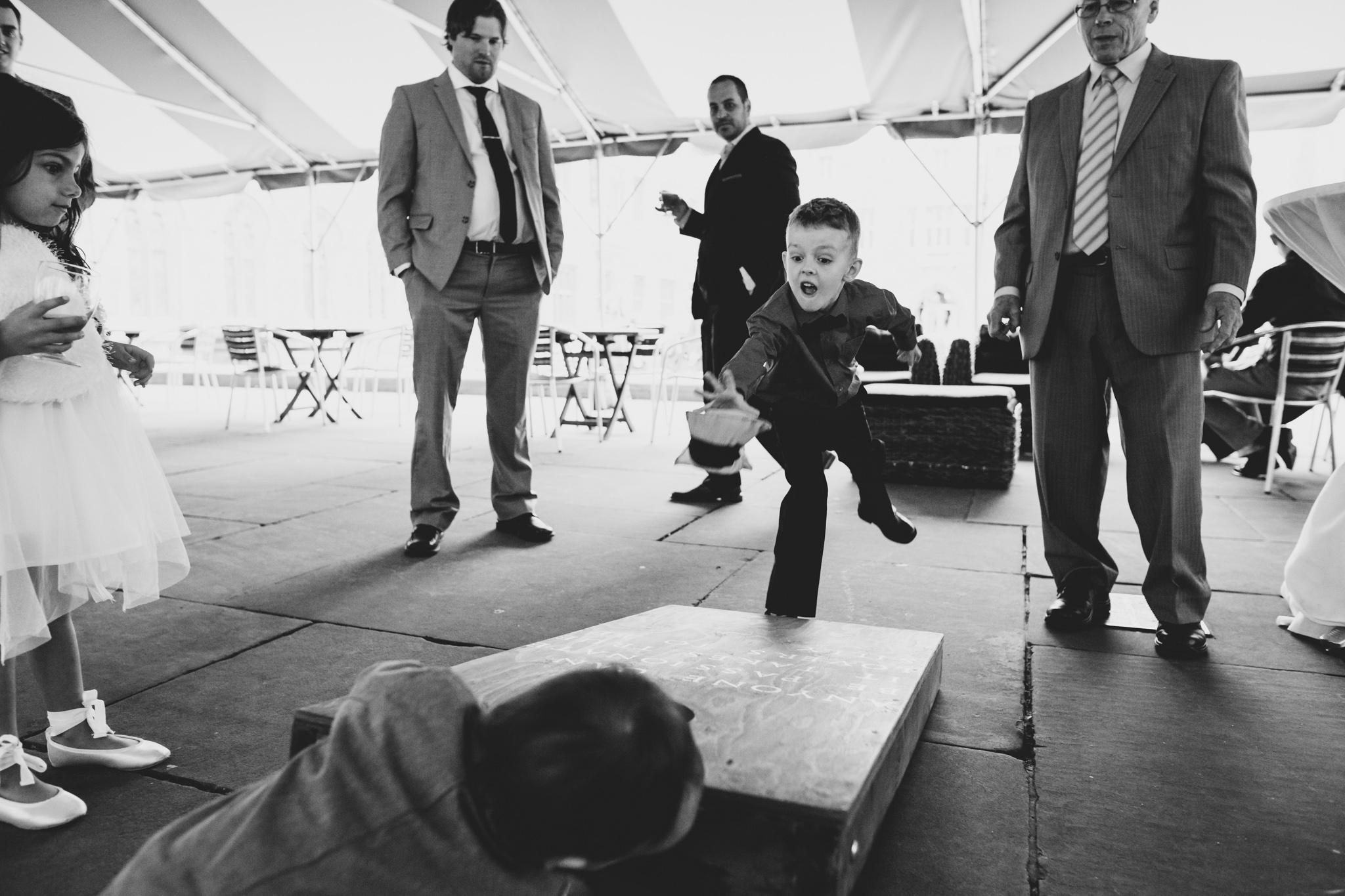 Lawn Games during Wedding