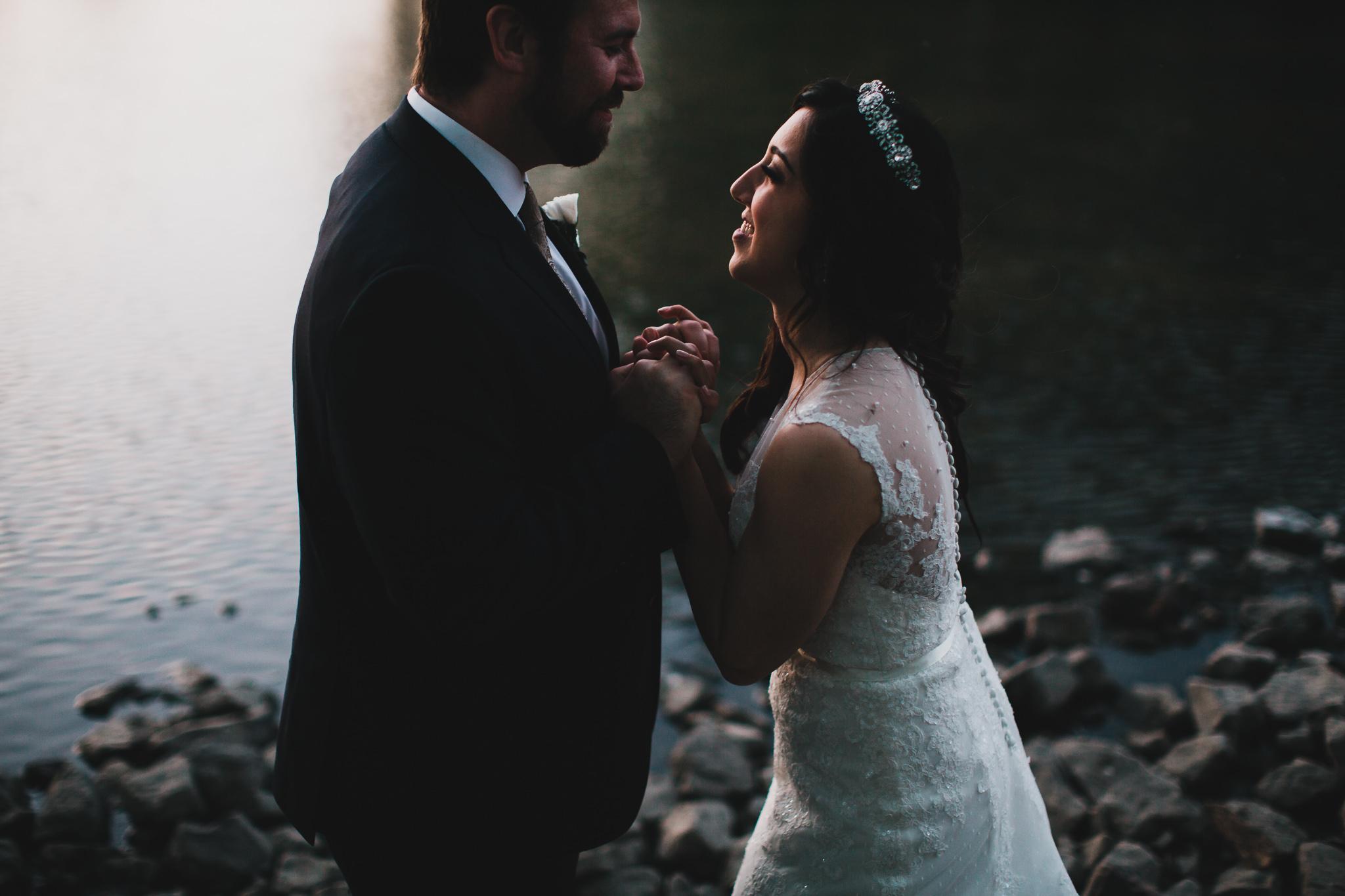 Romantic evening wedding portraits, Ottawa Ontario