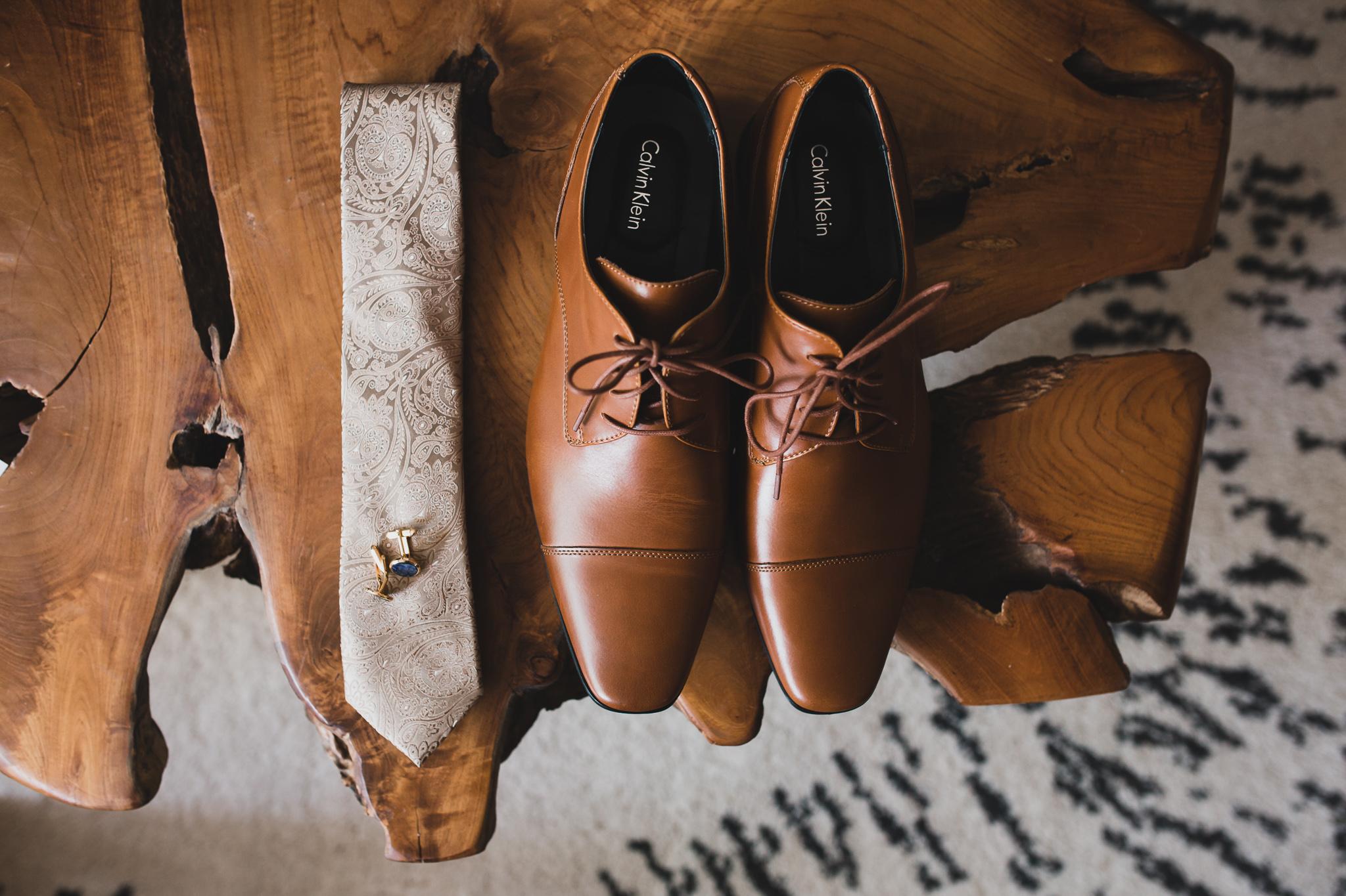 Groom's wedding details, artistic, teak