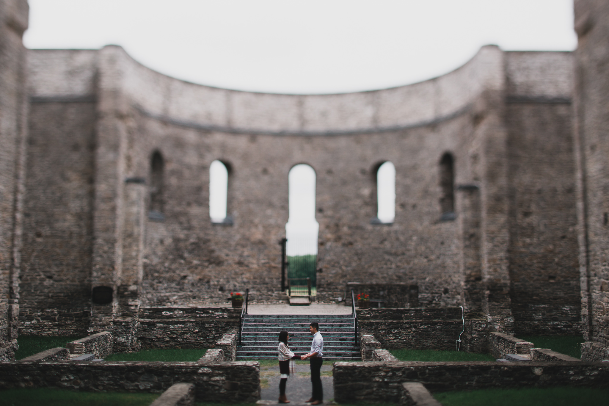Church ruins engagement session