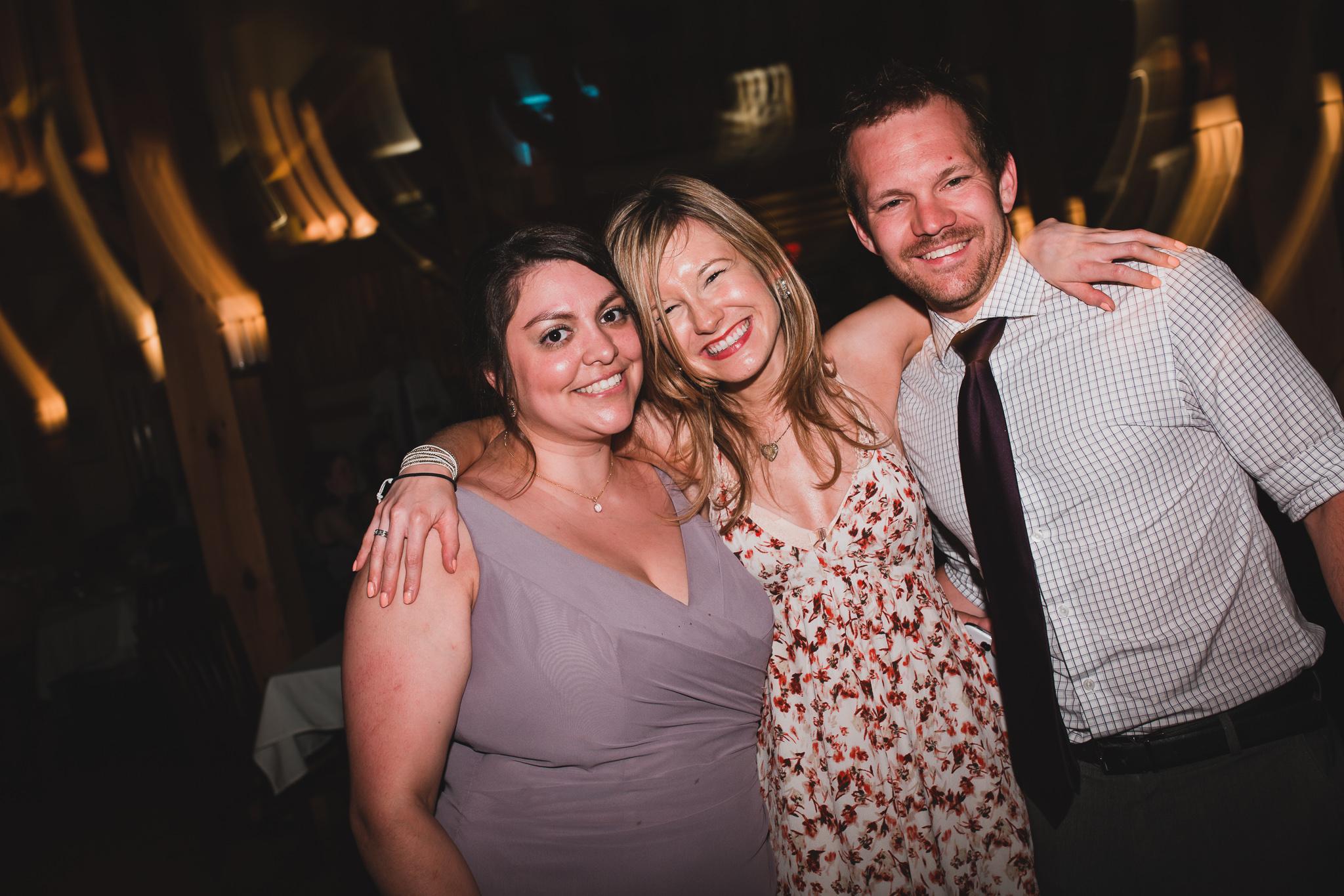 Crazy party wedding photos