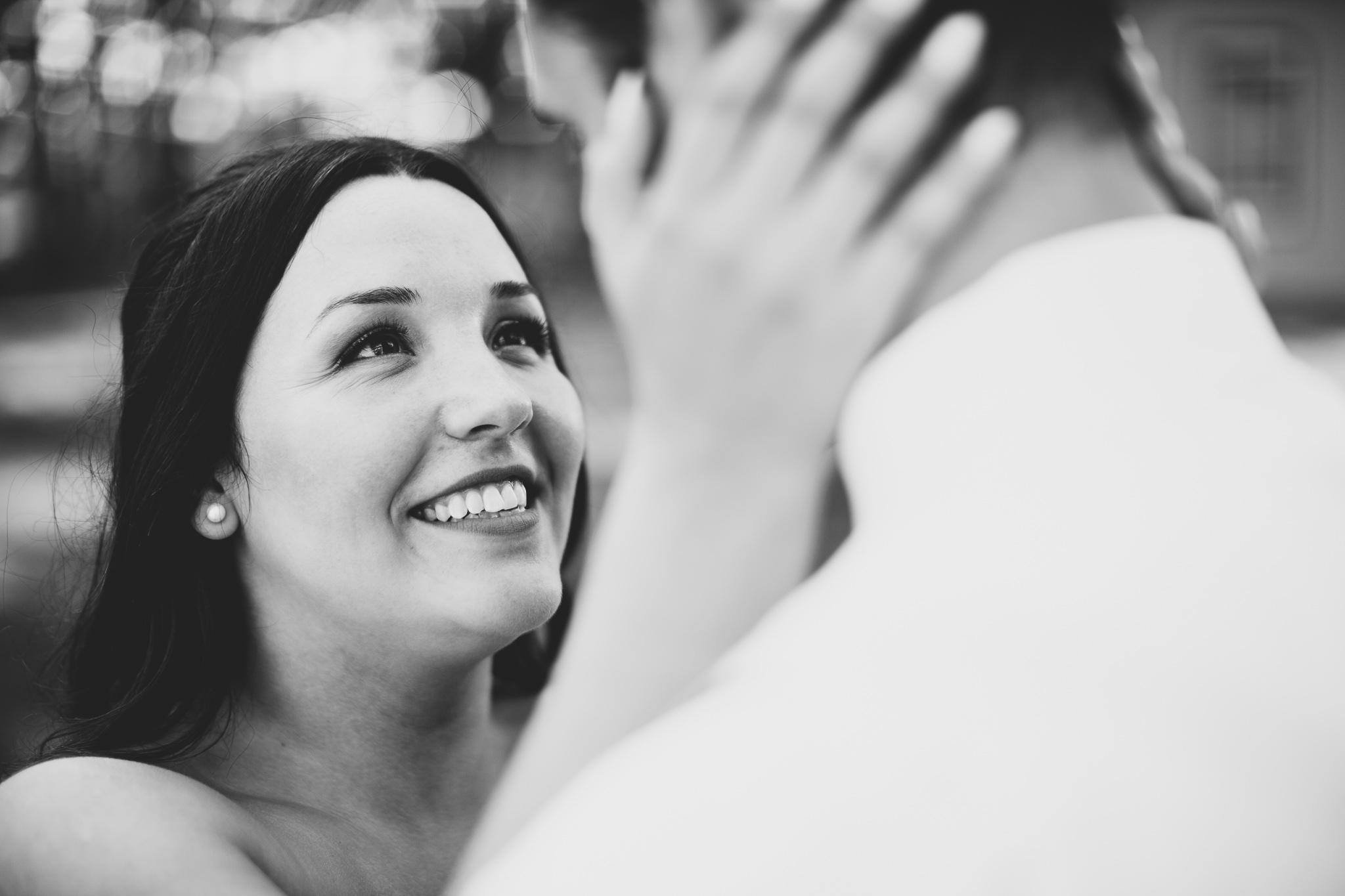 Romantic Black & White Wedding Photo
