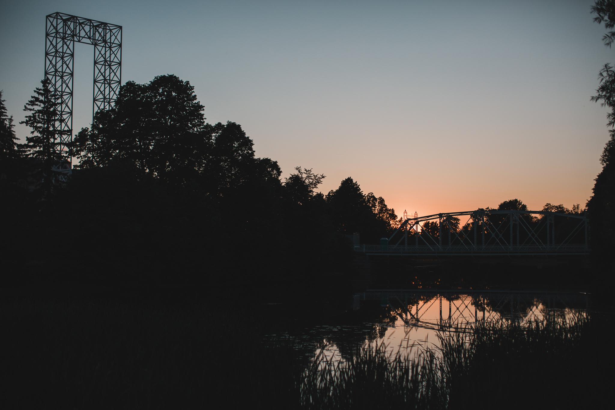 New Edinburgh Park, Ottawa at Sunset