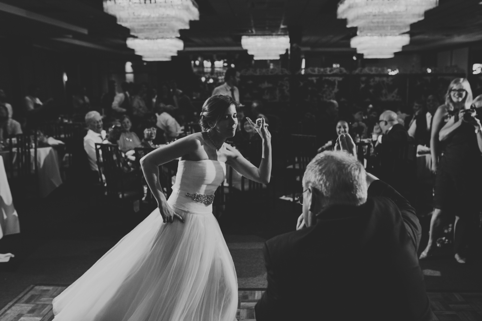 Bride dancing with Father, Wedding