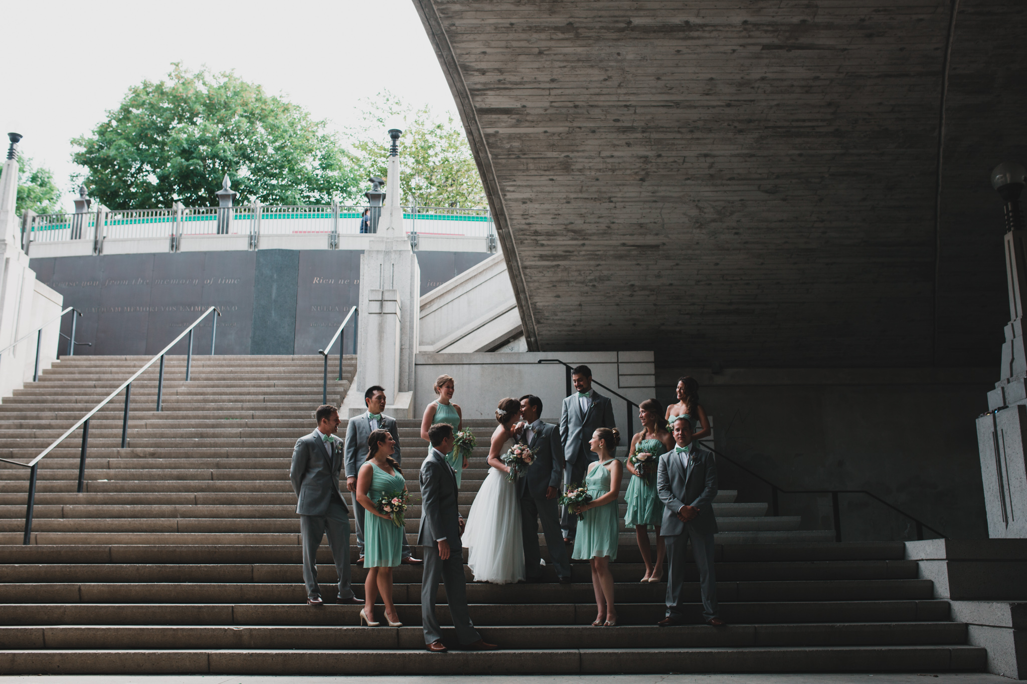 Large Wedding Party, Portrait Grouping