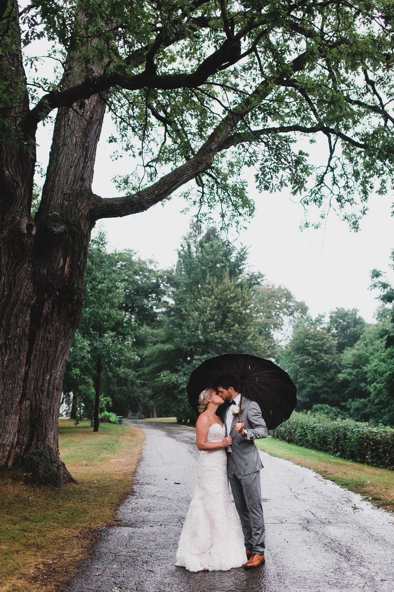 Rainy Chateau Montebello Wedding