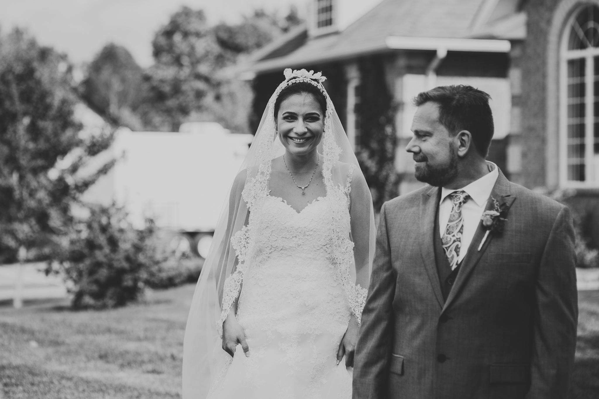 First-look wedding