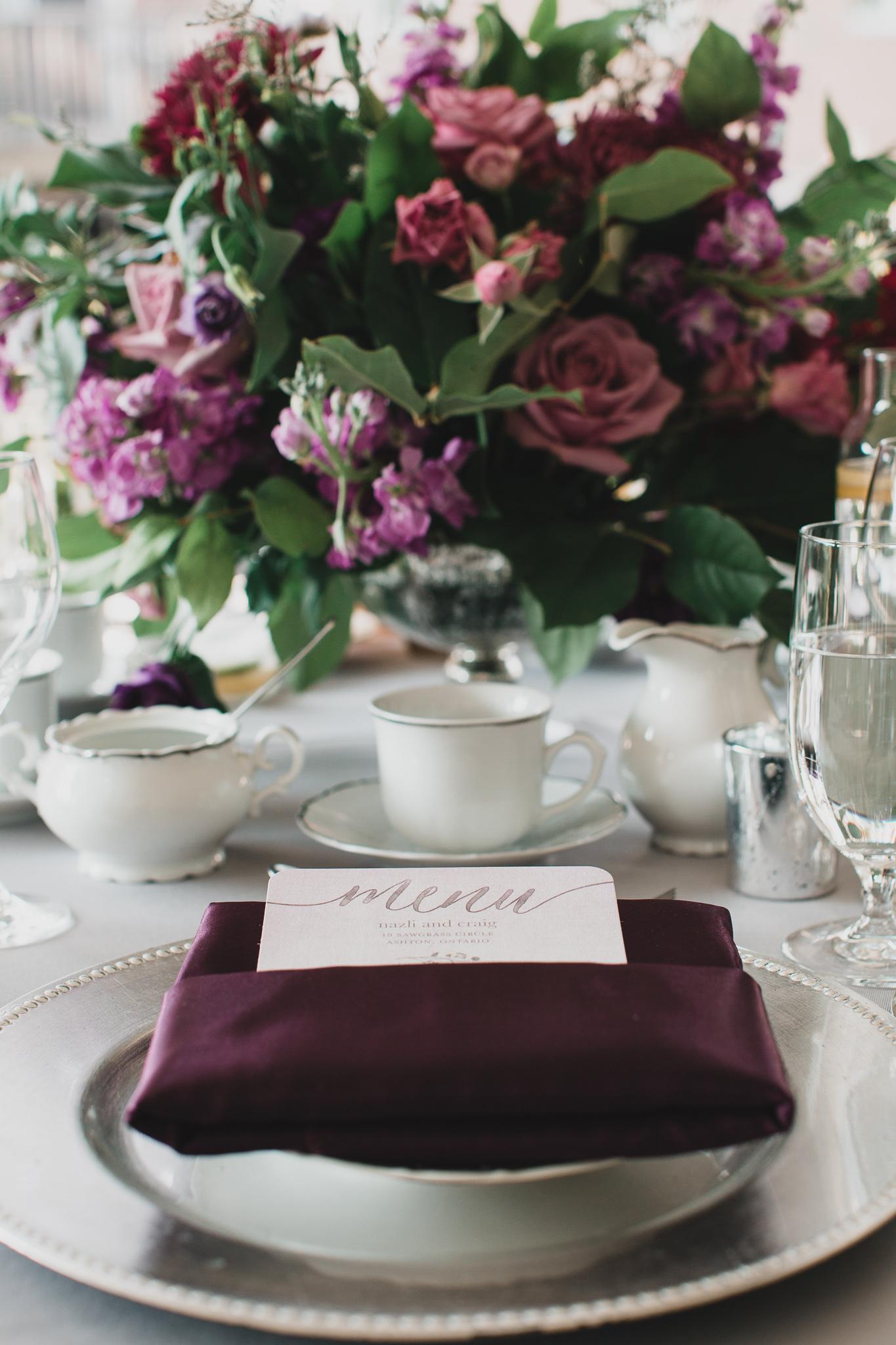Satin & Snow Floral Design Wedding