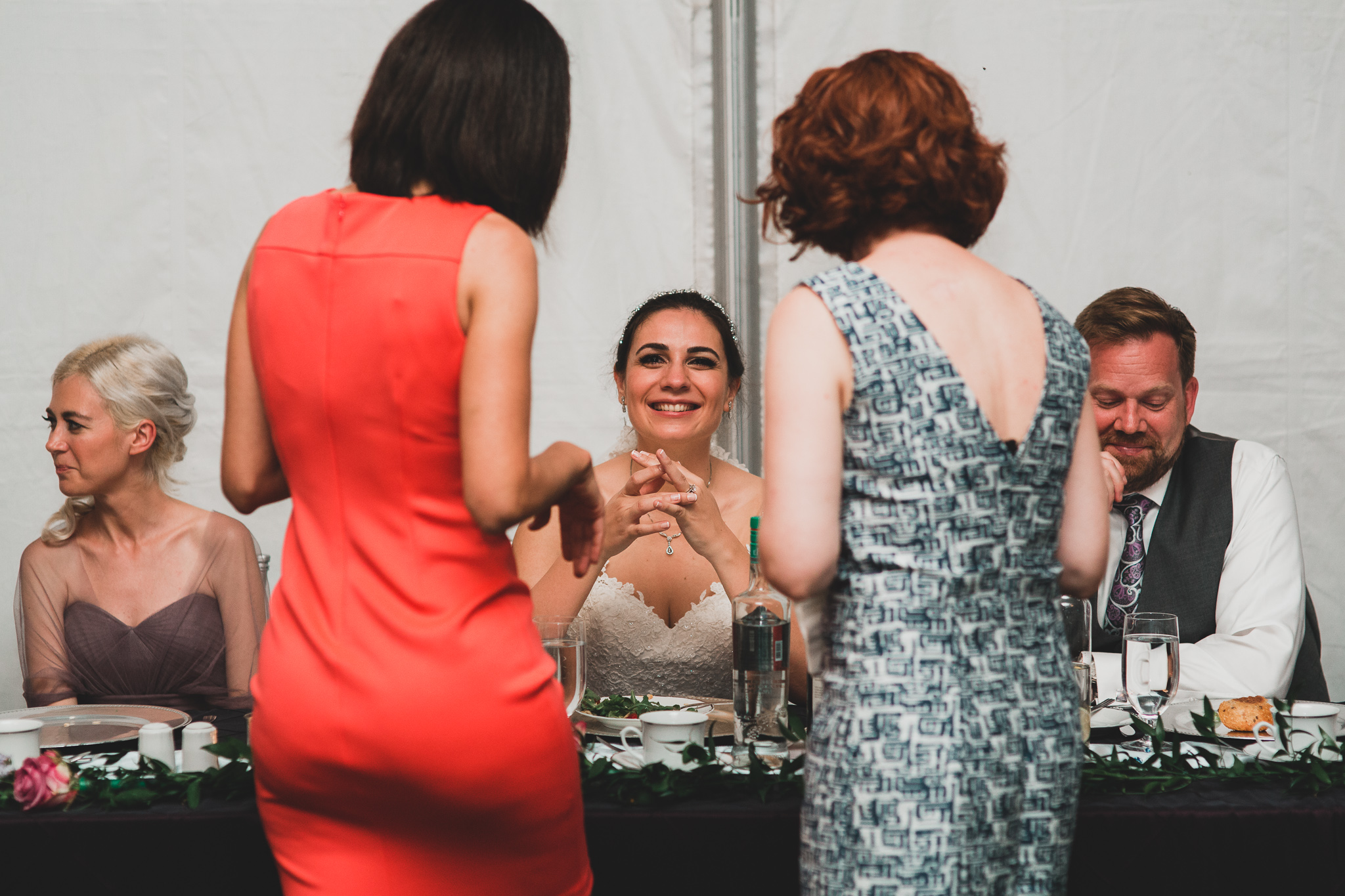 Candid wedding coverage, documentary style