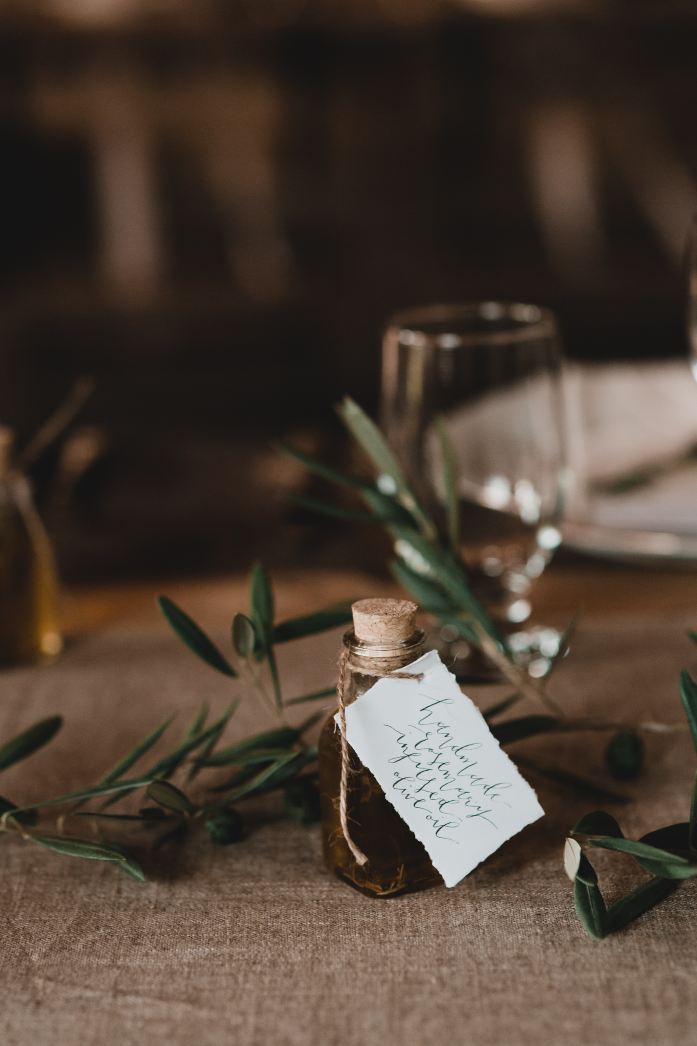 Handmade Wedding Favours, Rosemary Olive Oil