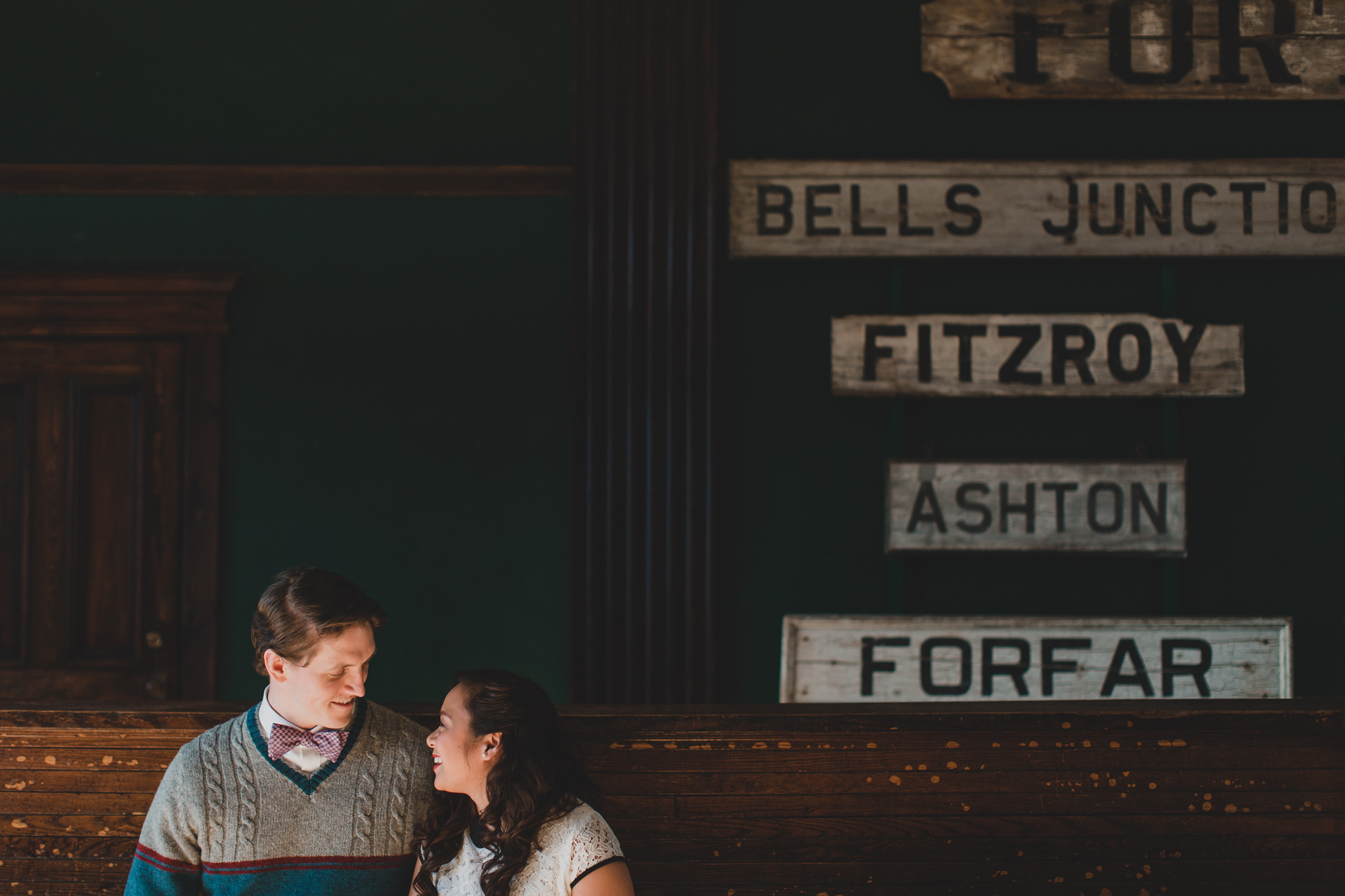 train station engagement session ontario