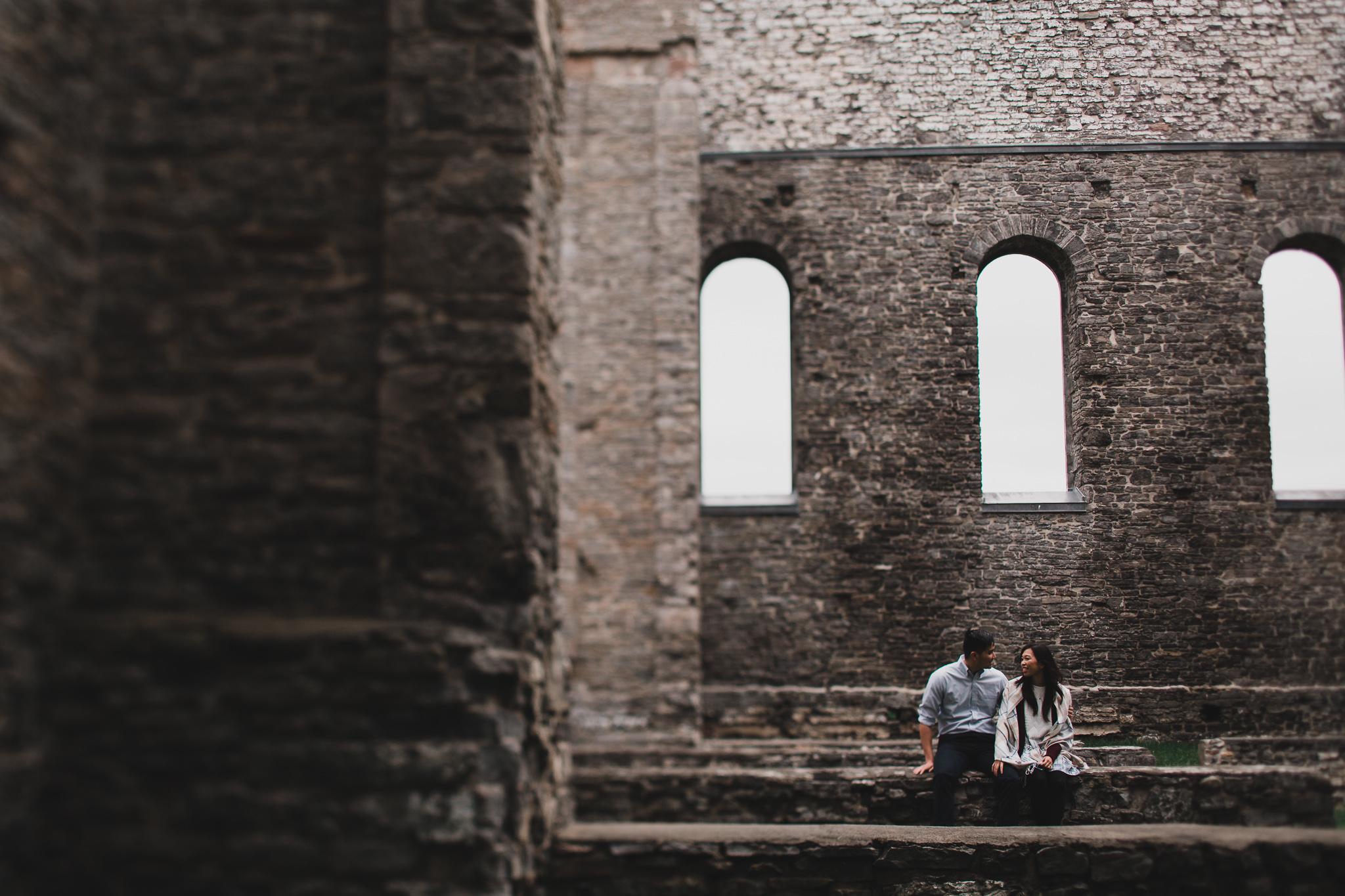 Abandoned building engagement photo