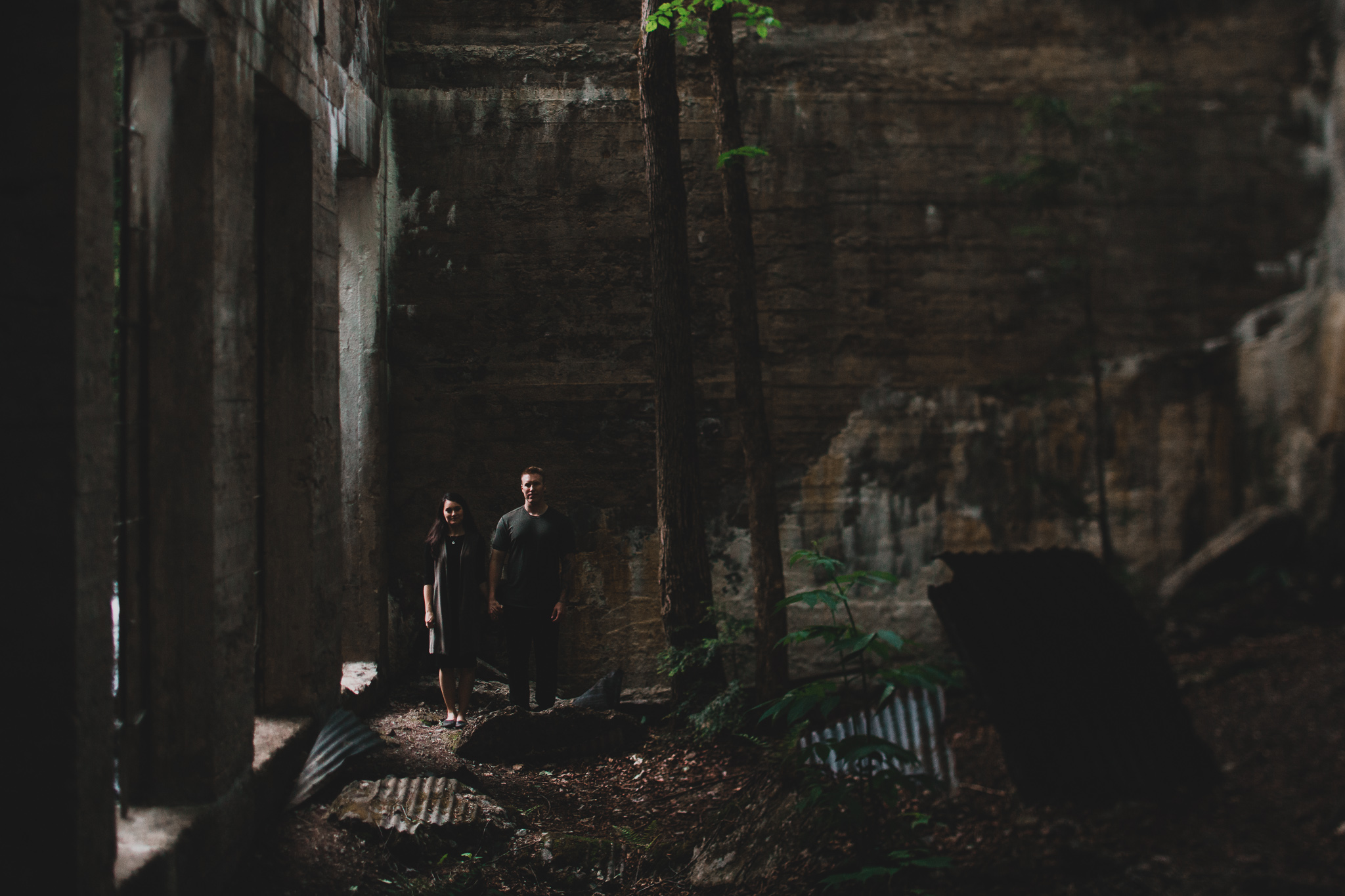 Engagement photos in old ruins Jonathan Kuhn