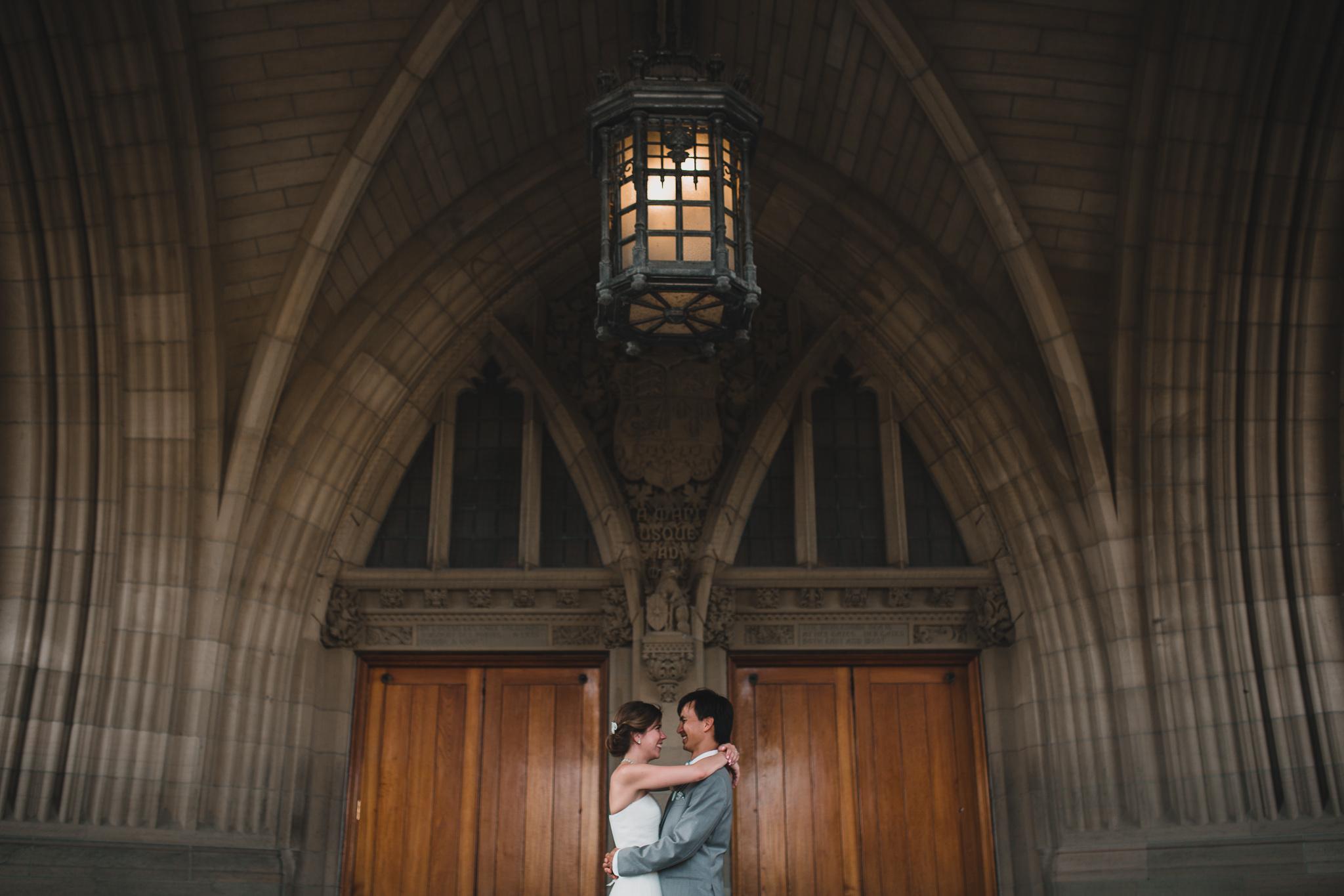 Parliament Hill wedding portrait