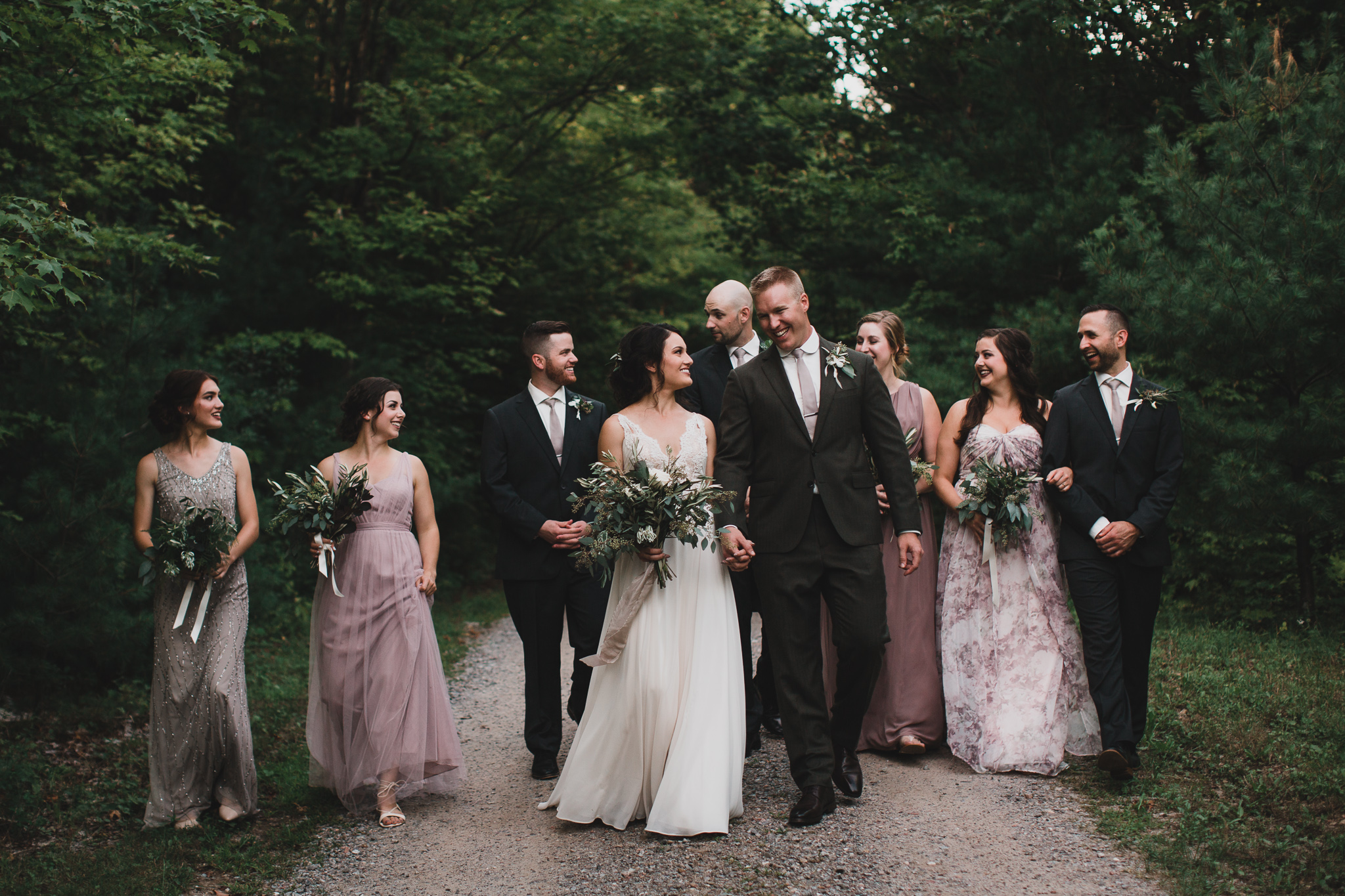 Candid style group wedding photo