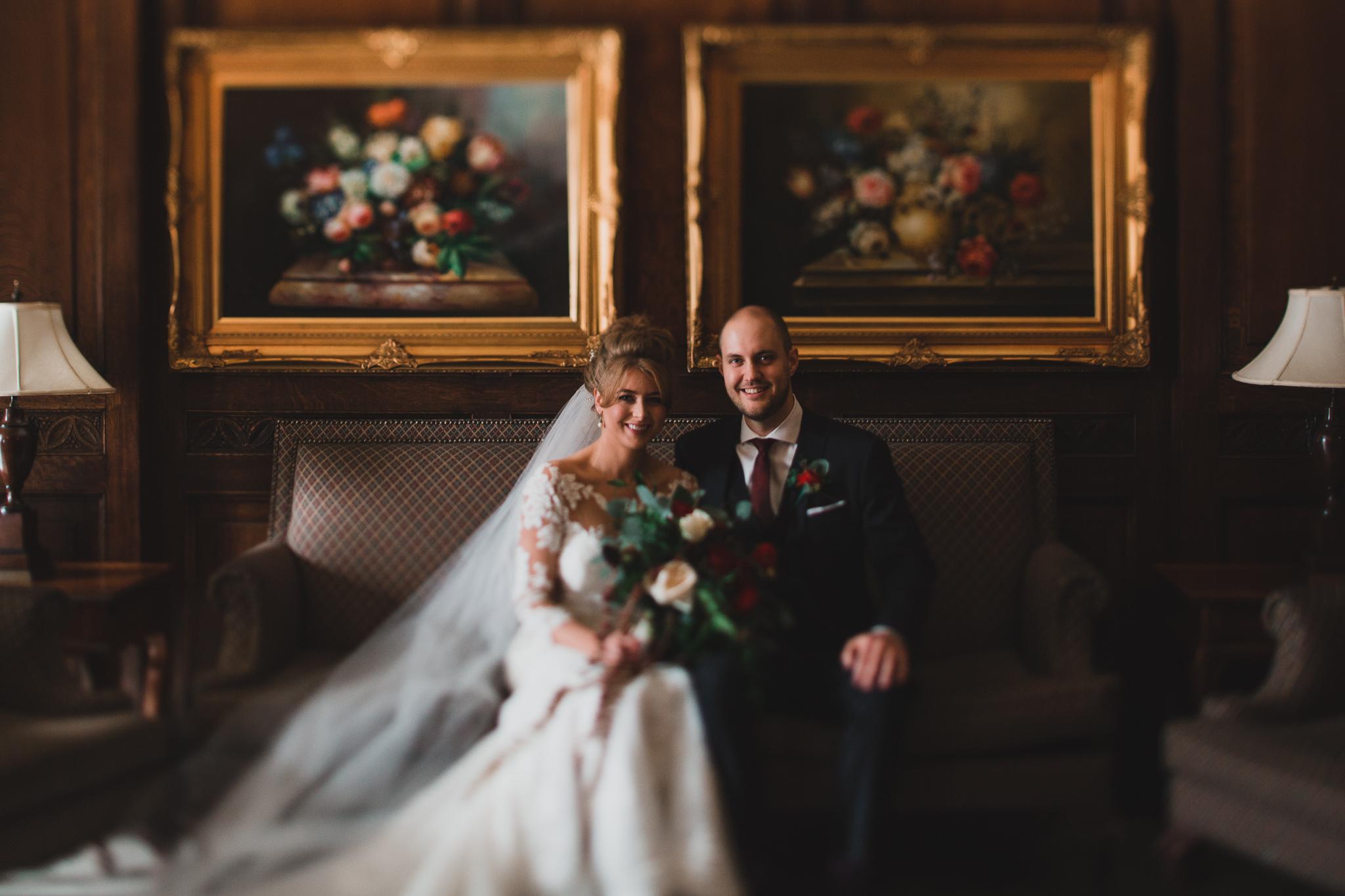 Chateau Laurier wedding portrait Jonathan Kuhn