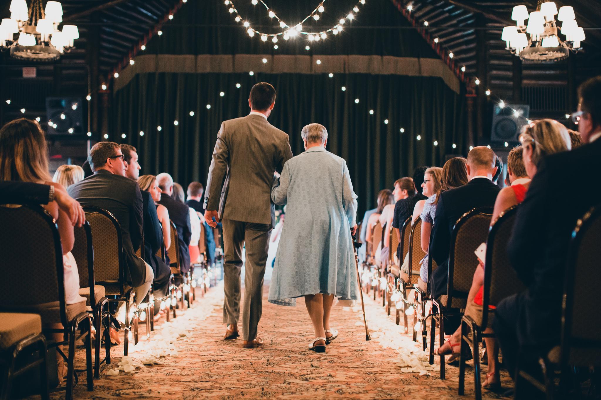 Chateau Montebello Indoor wedding ceremony location