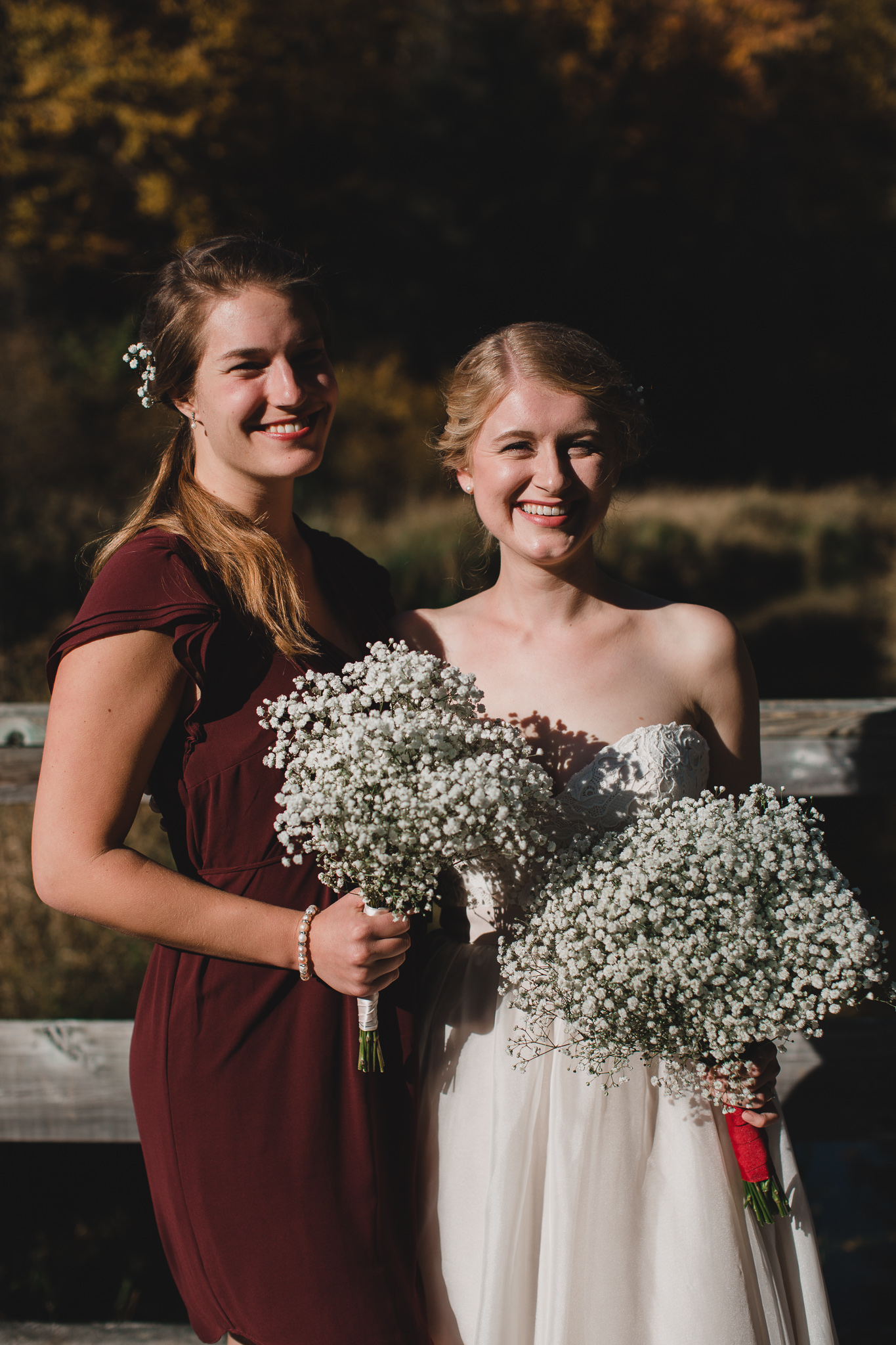 Burgundy bridesmaid wedding dresses
