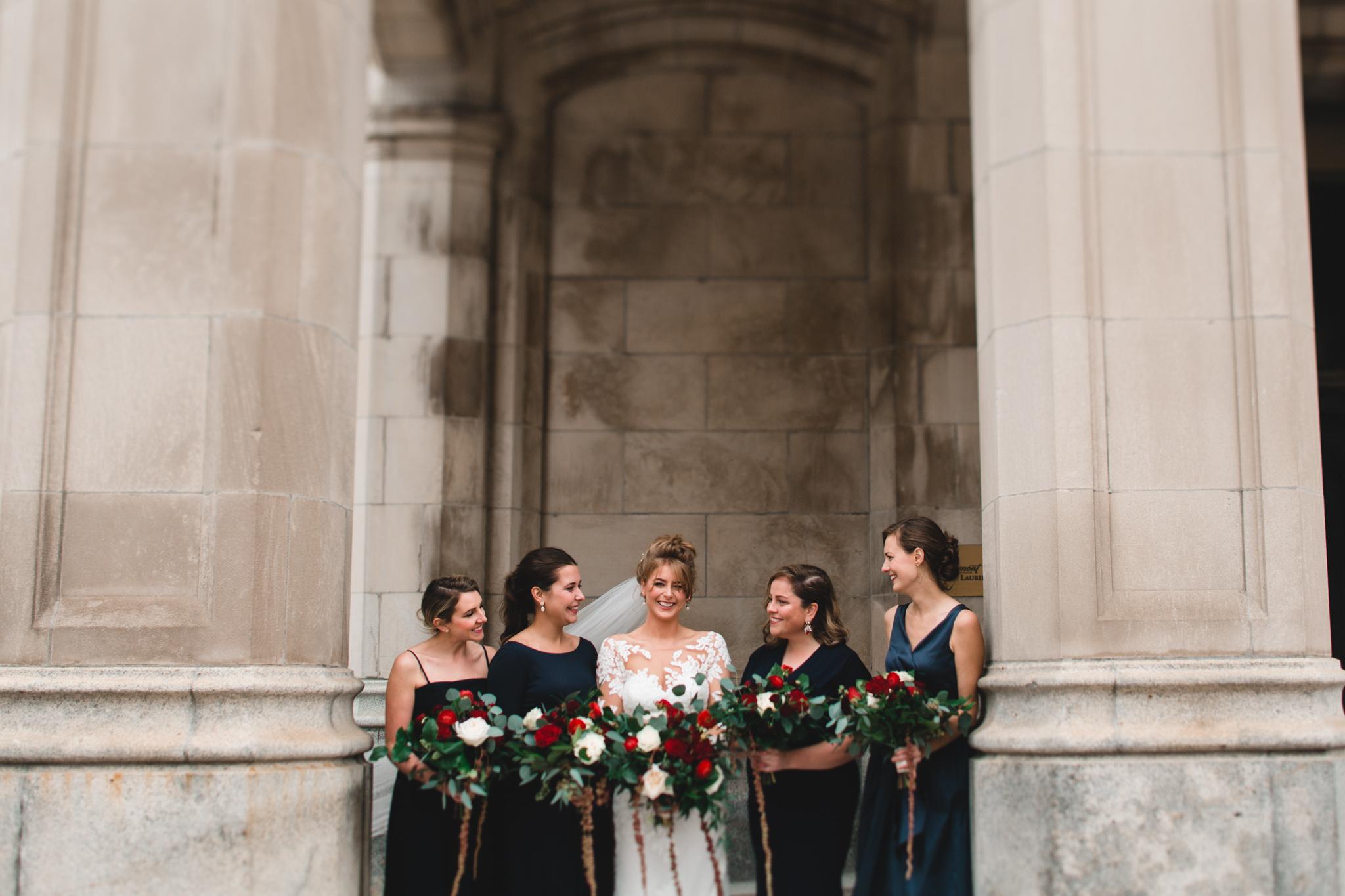Navy Blue Bridesmaid Dresses, mismatching