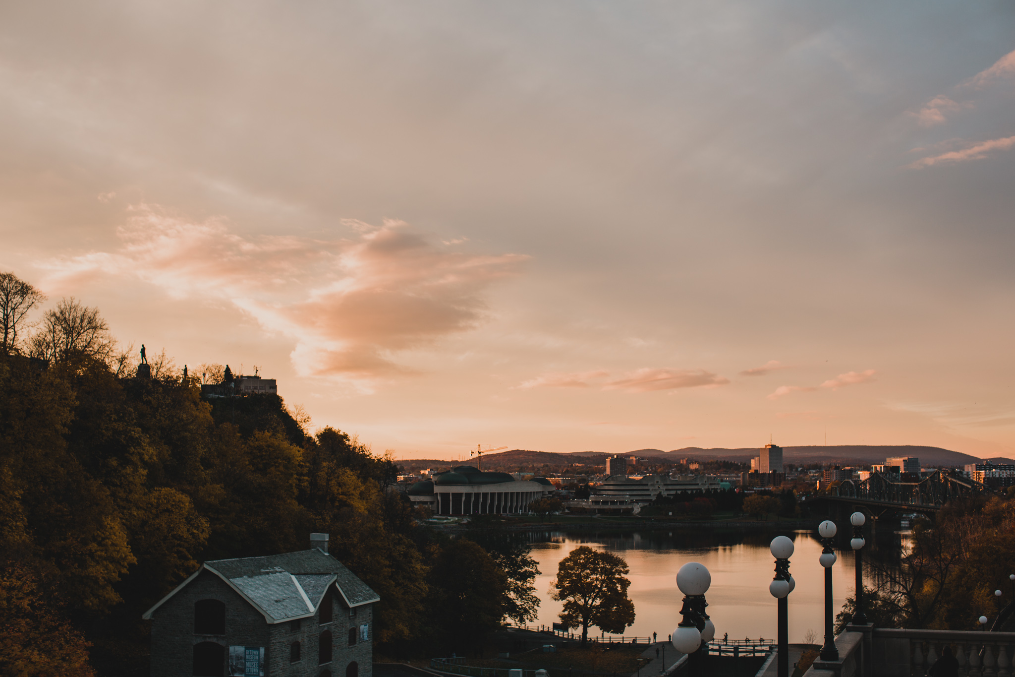 Downtown Ottawa Evening Wedding Sunset