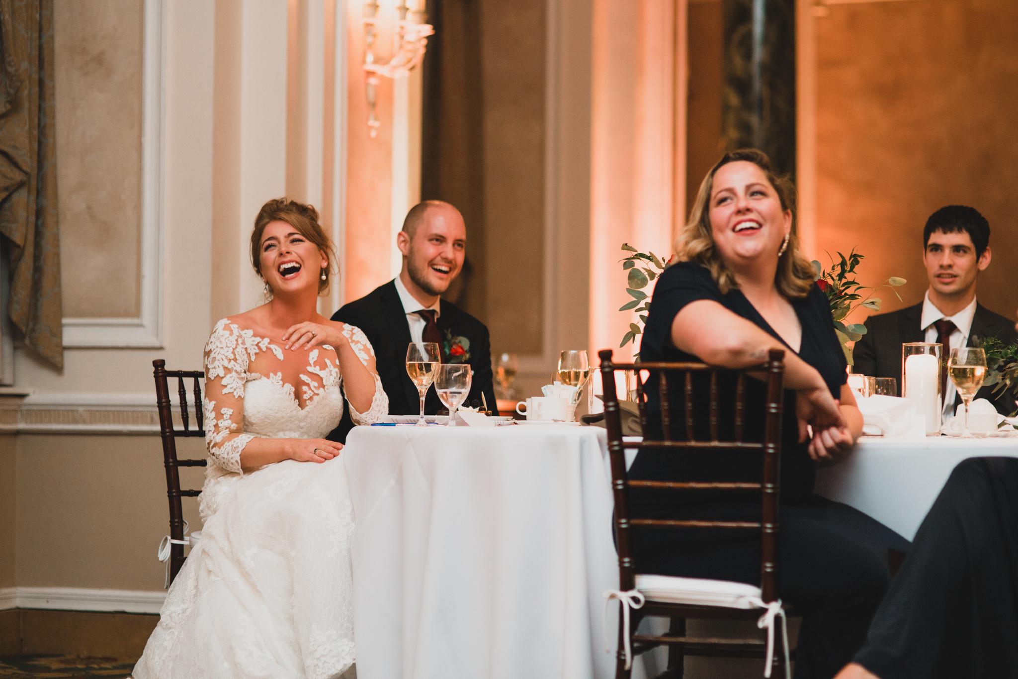 Natural wedding reception photos