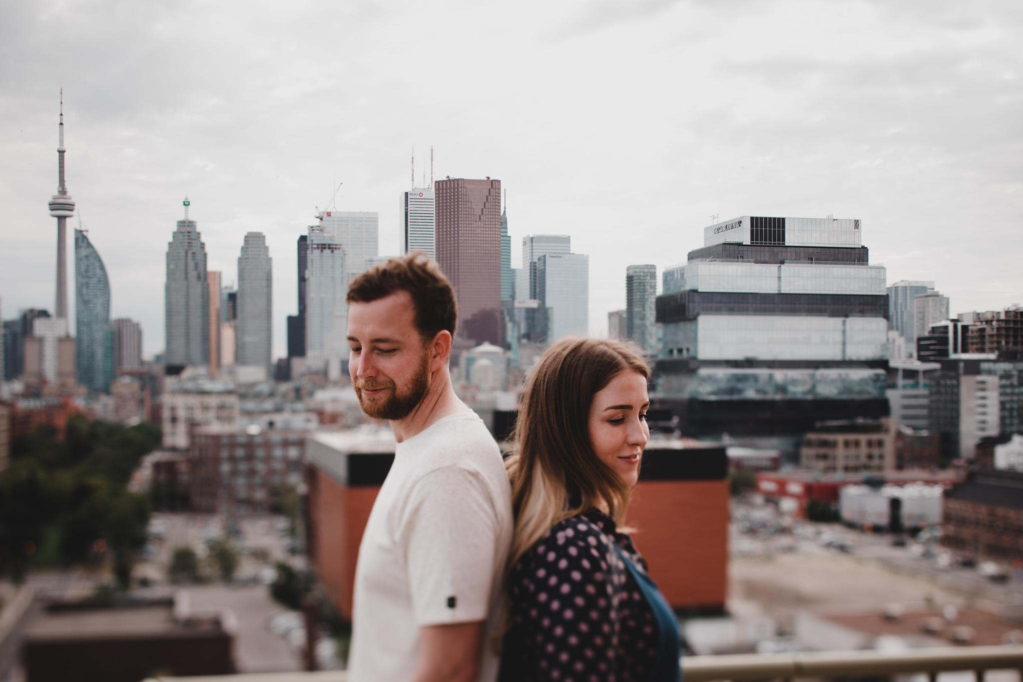 Toronto Skyline Photos, Engagement