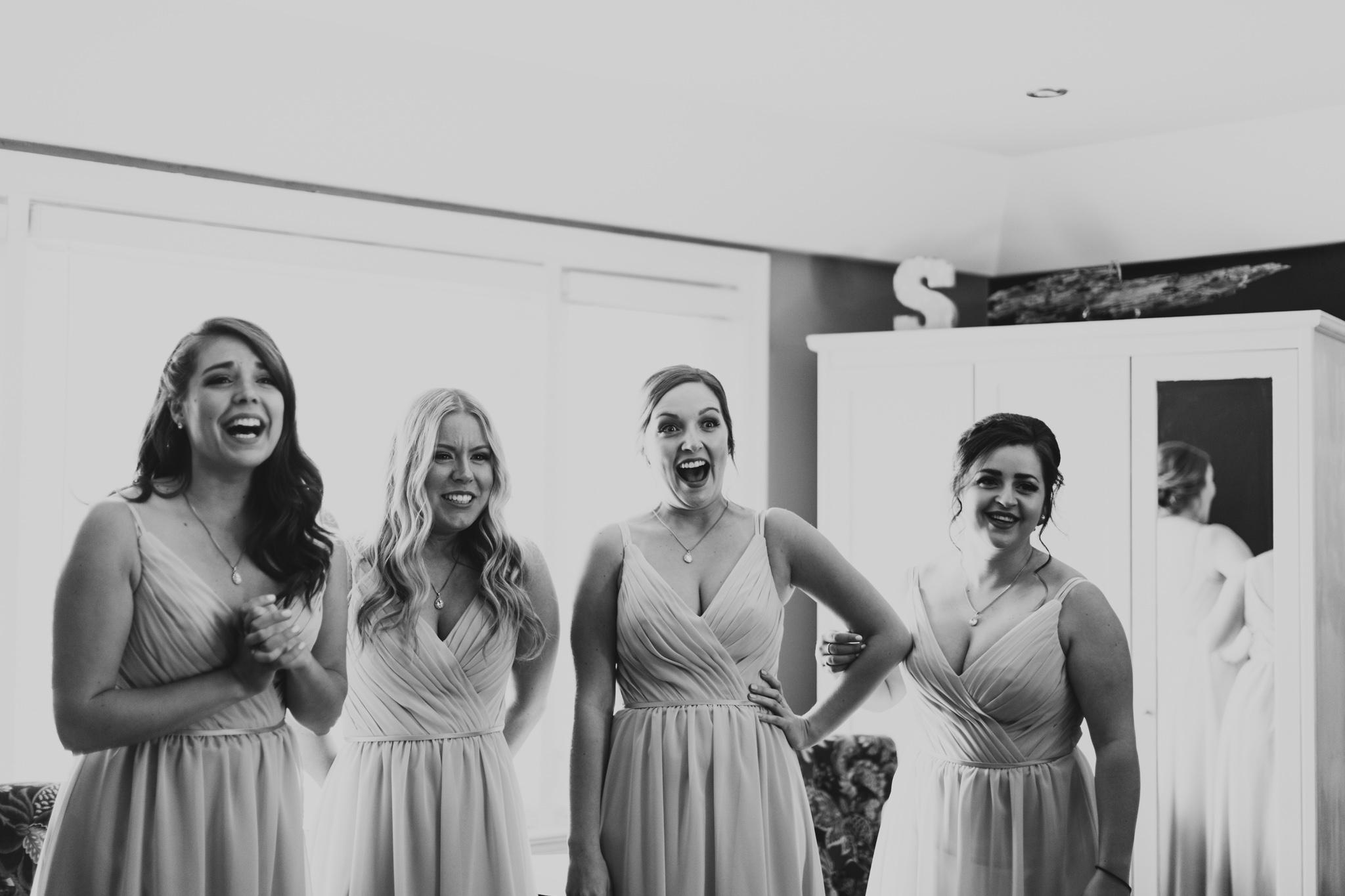 Bridesmaids Reactions to Bride