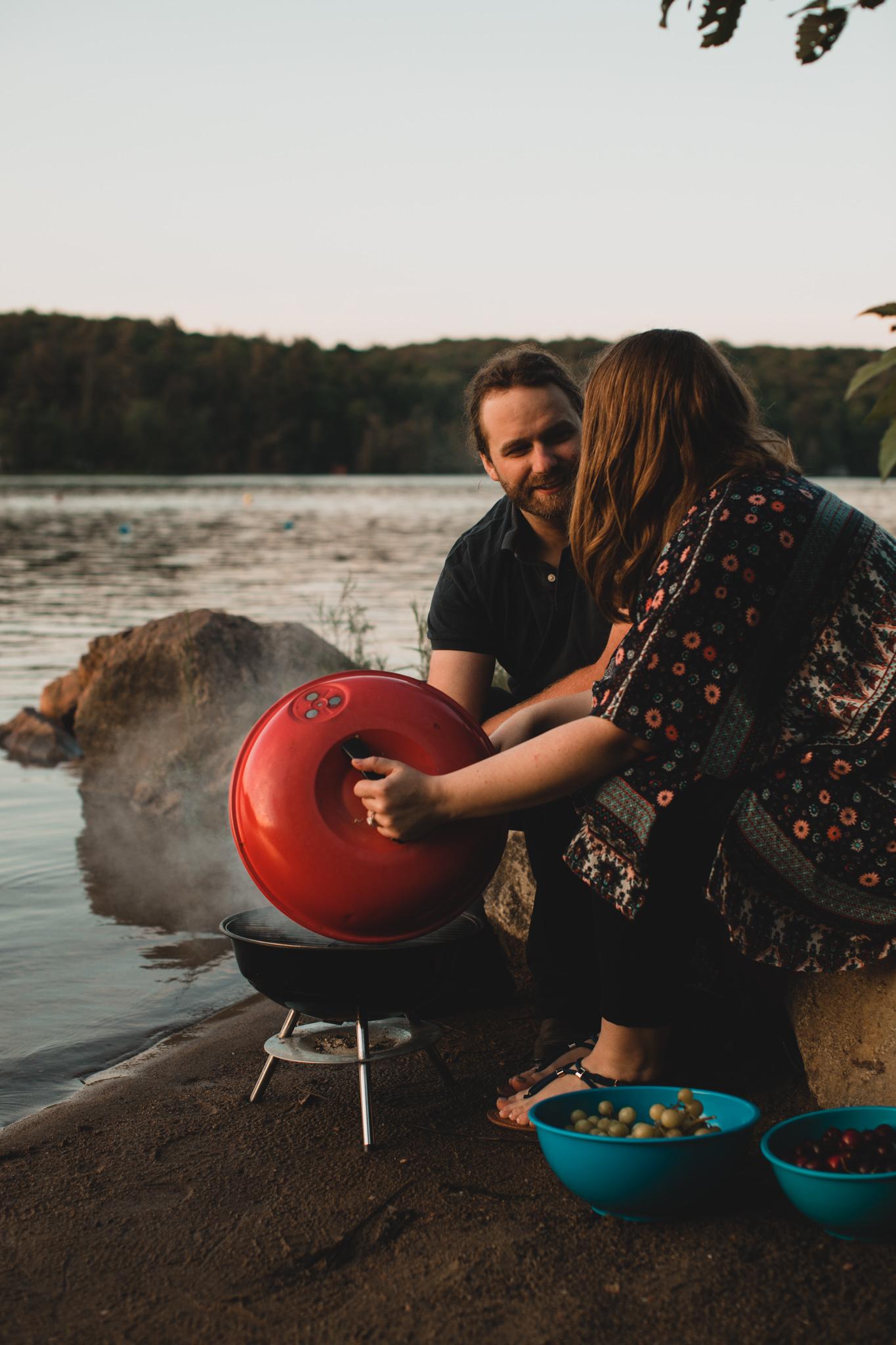 Candid Engagement, Picnic at Meech Lake