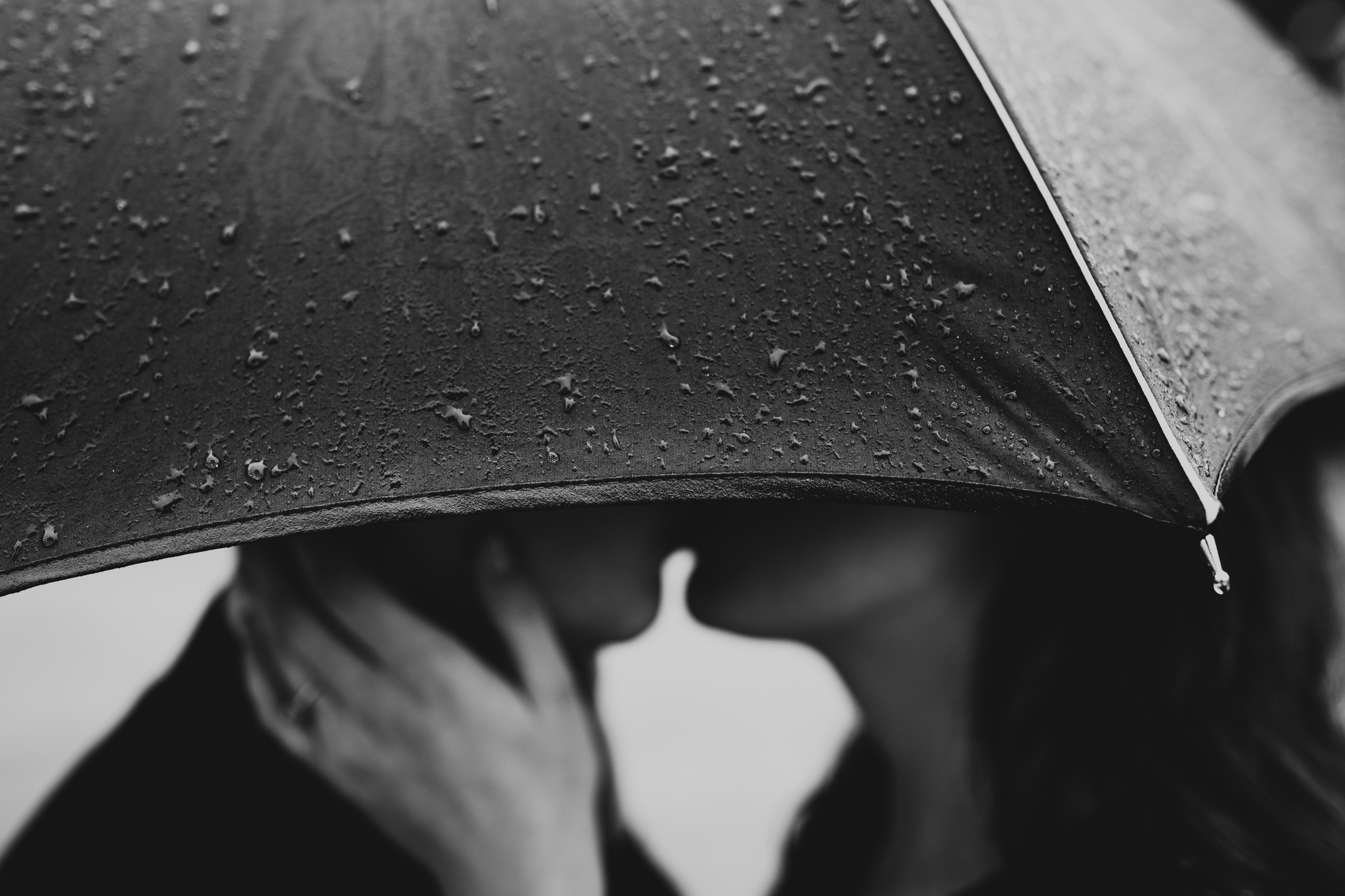 Rainy Engagement Photos