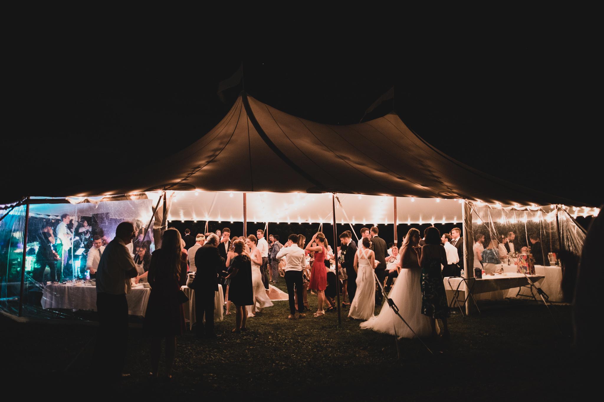 Backyard Tent Wedding Niagara on the Lake
