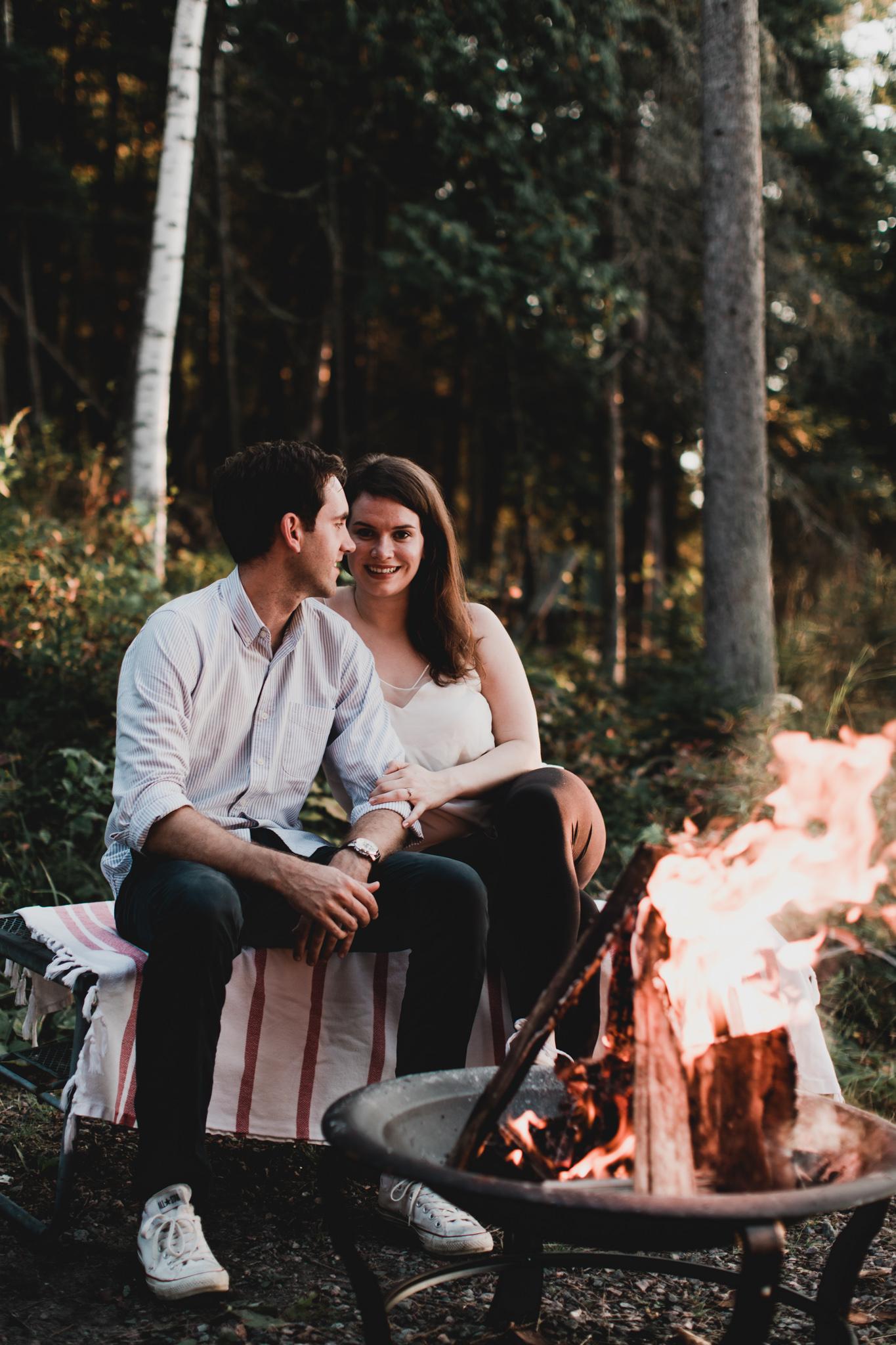 Bonfire Canadian Cottage