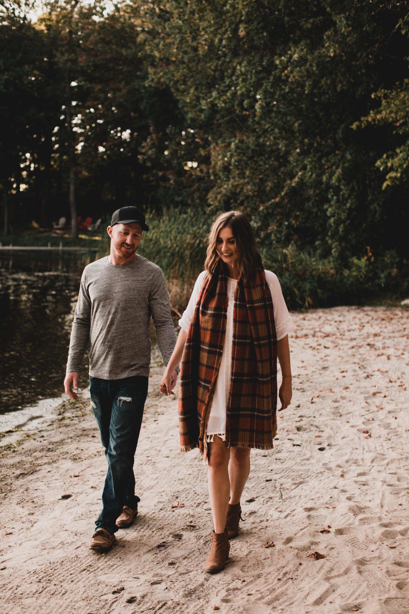 Fall engagement photos, Ottawa