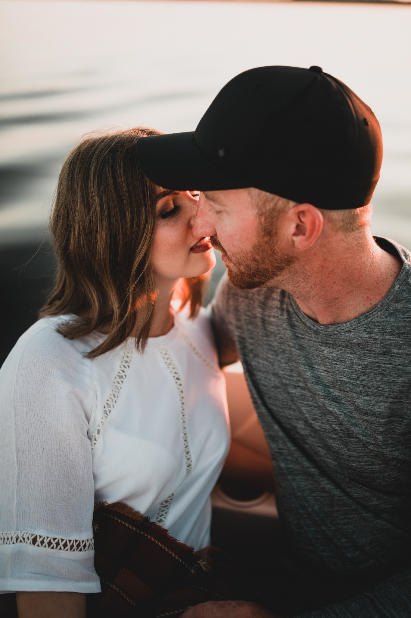Romantic Sunset Engagement Session