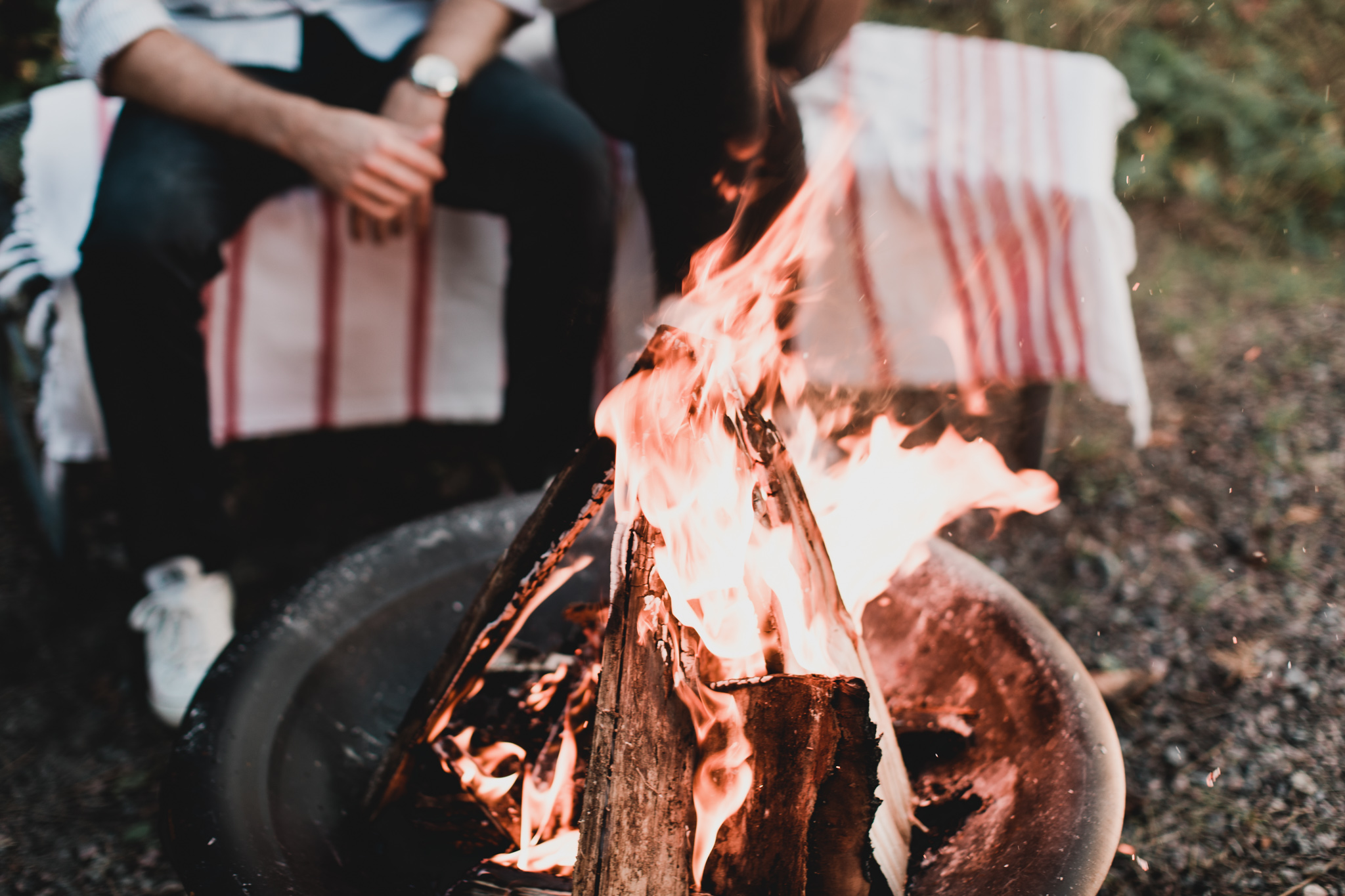 Cottage campfire Jonathan Kuhn Photography