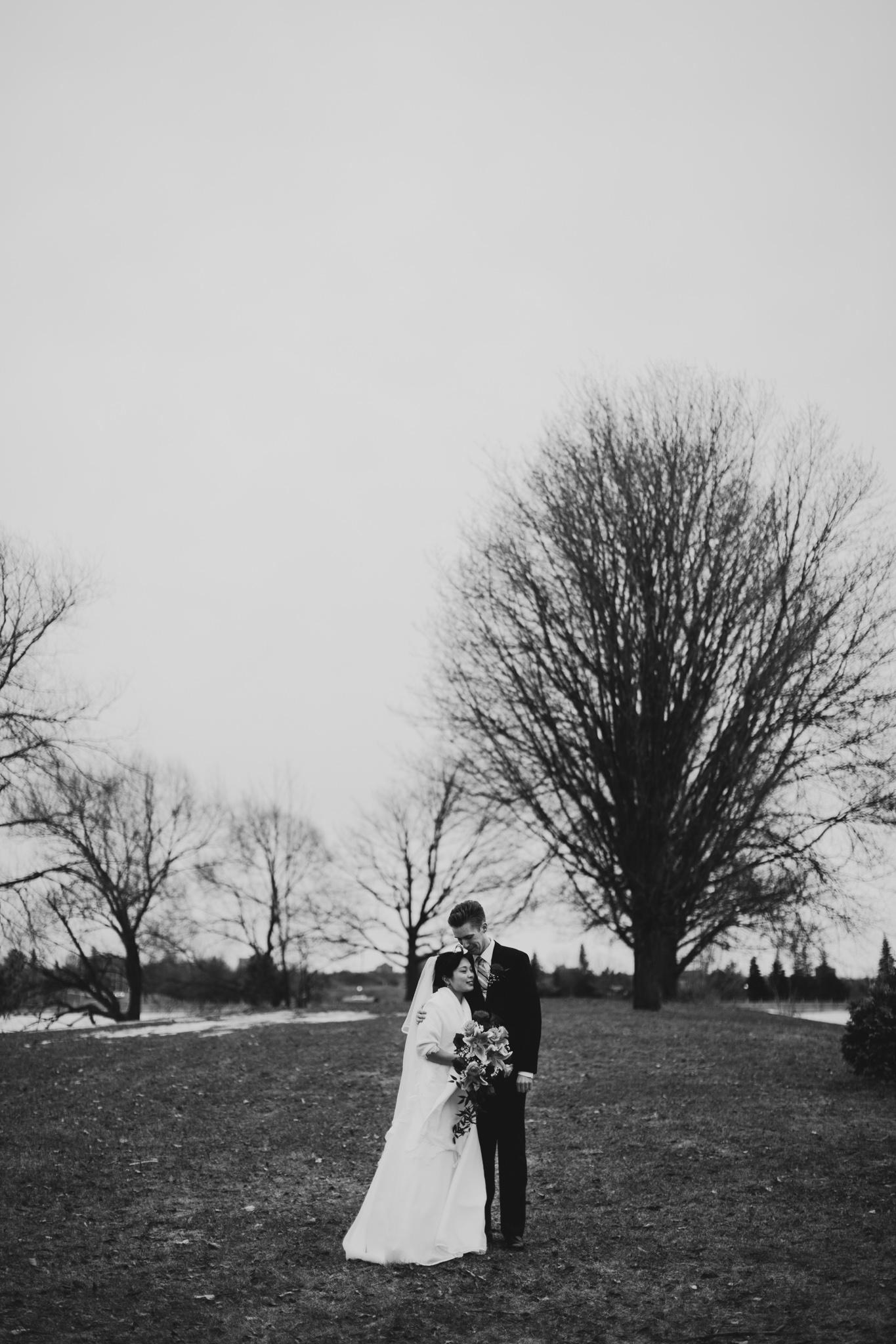 Winter Arboretum Ottawa Wedding