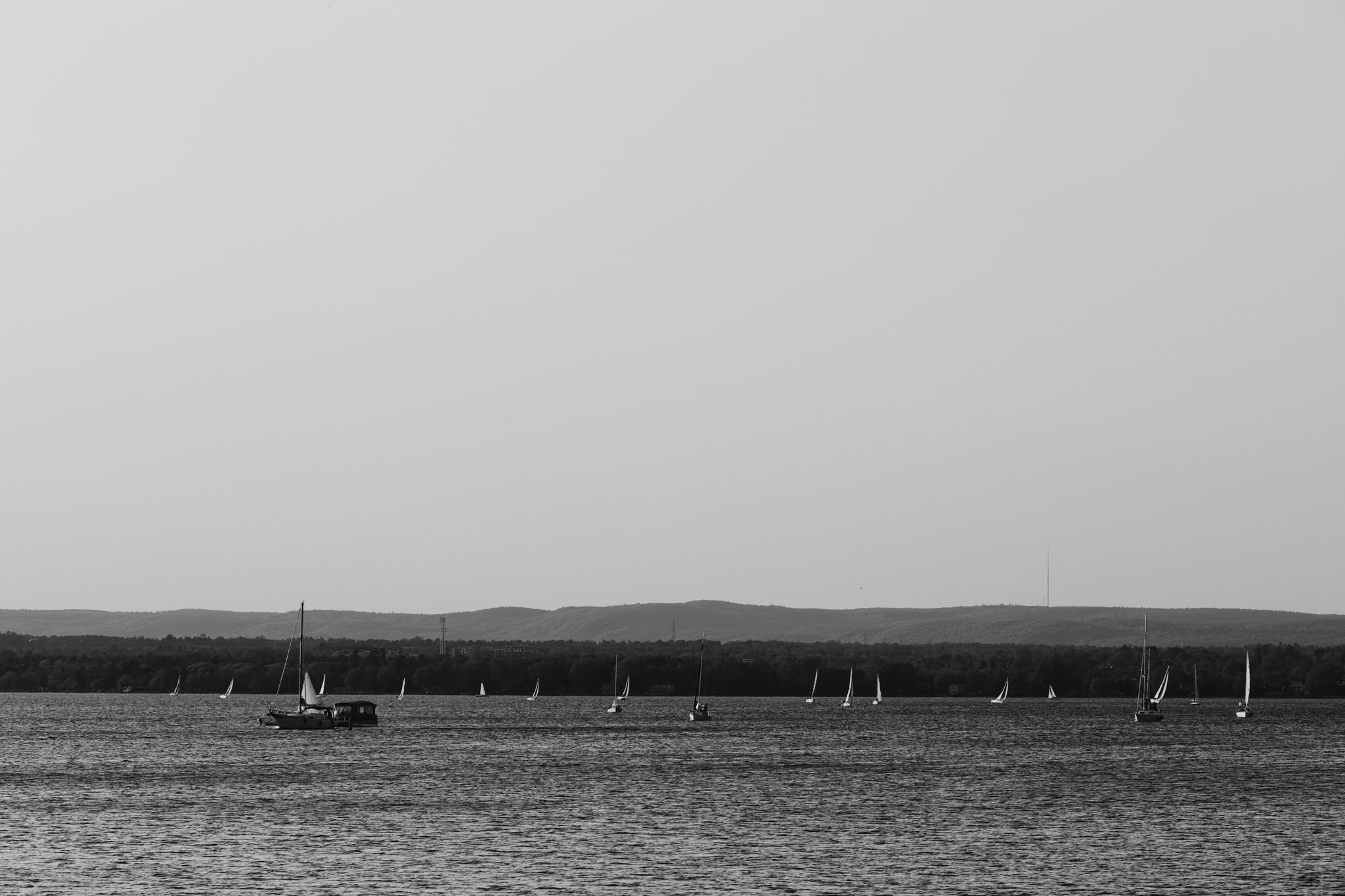 Sailboats over the Ottawa River