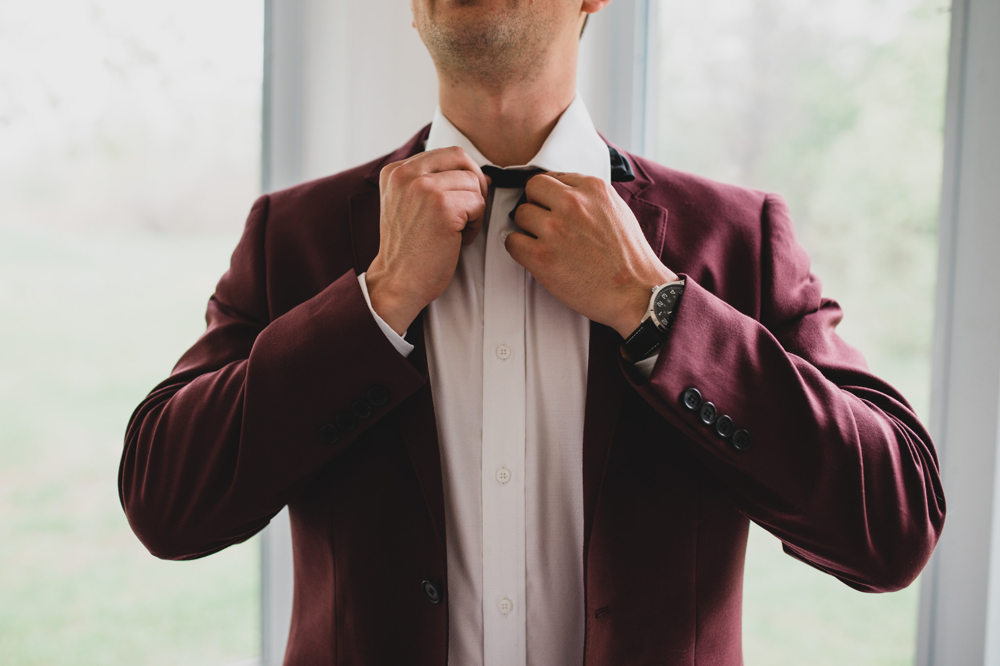 Burgundy Wedding Suit 2018